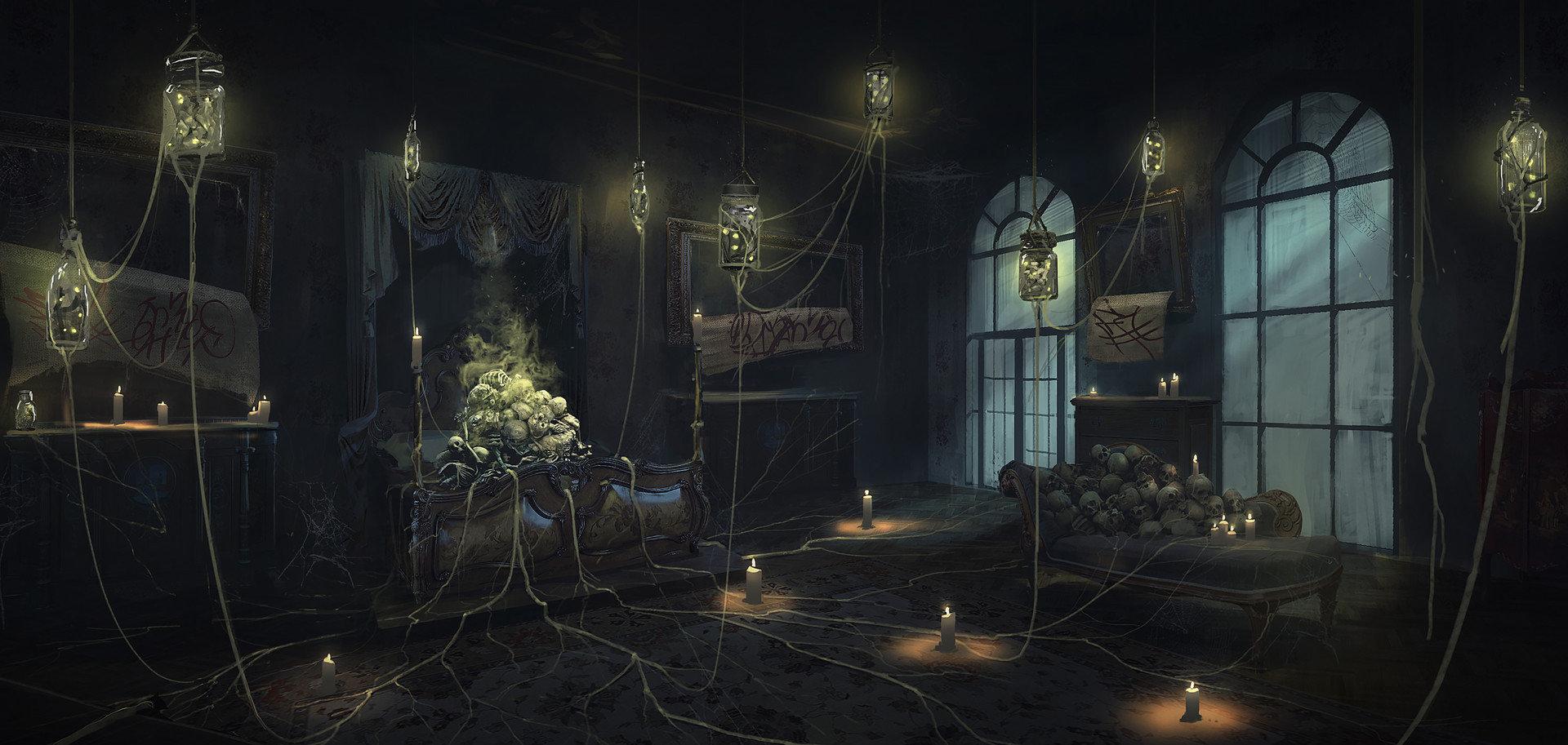 Artstation Bedroom Alexander Pavlenko