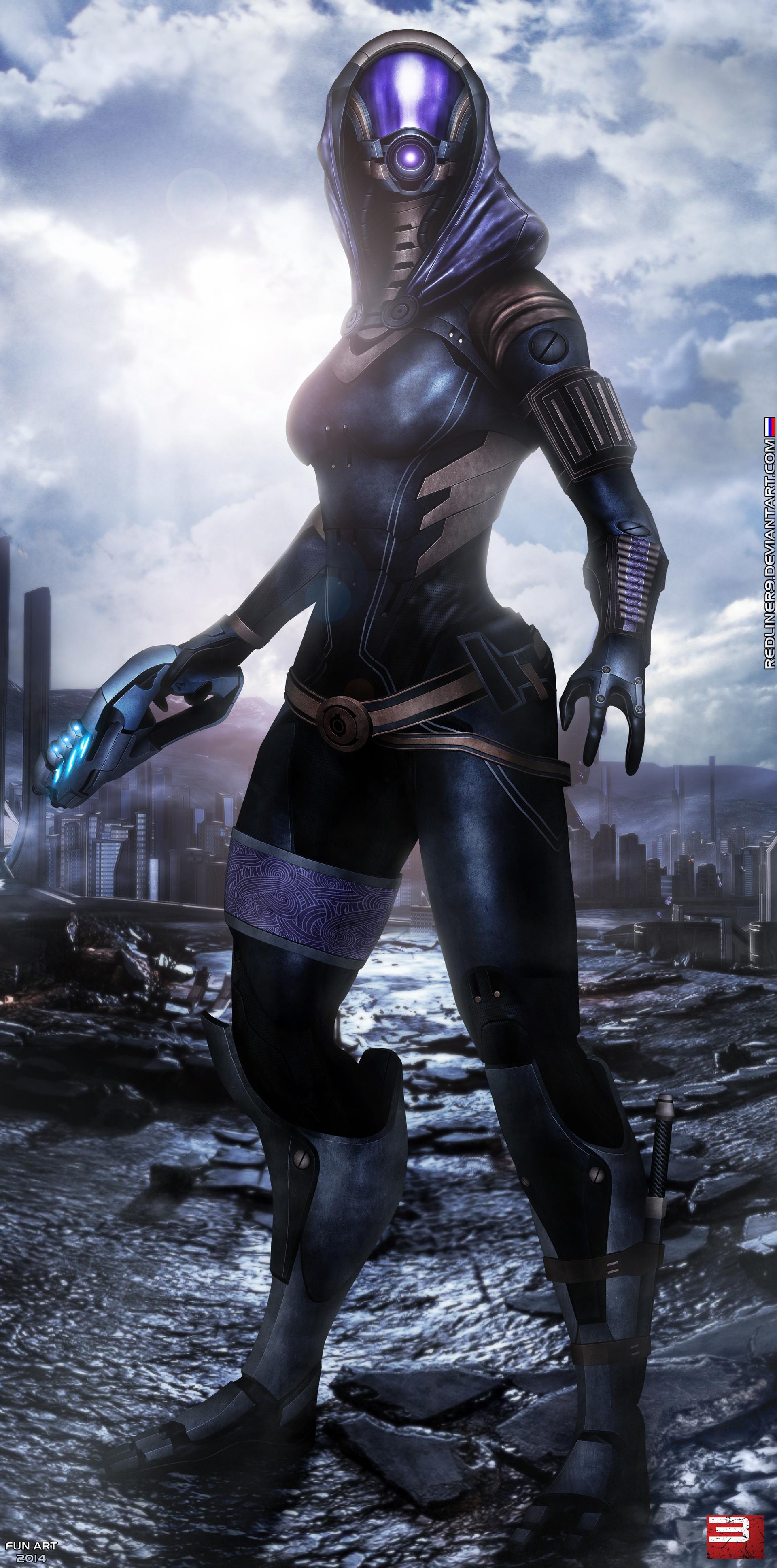 Mass Effect 3 Tali'Zorah (2014) by Alexander Krasnov