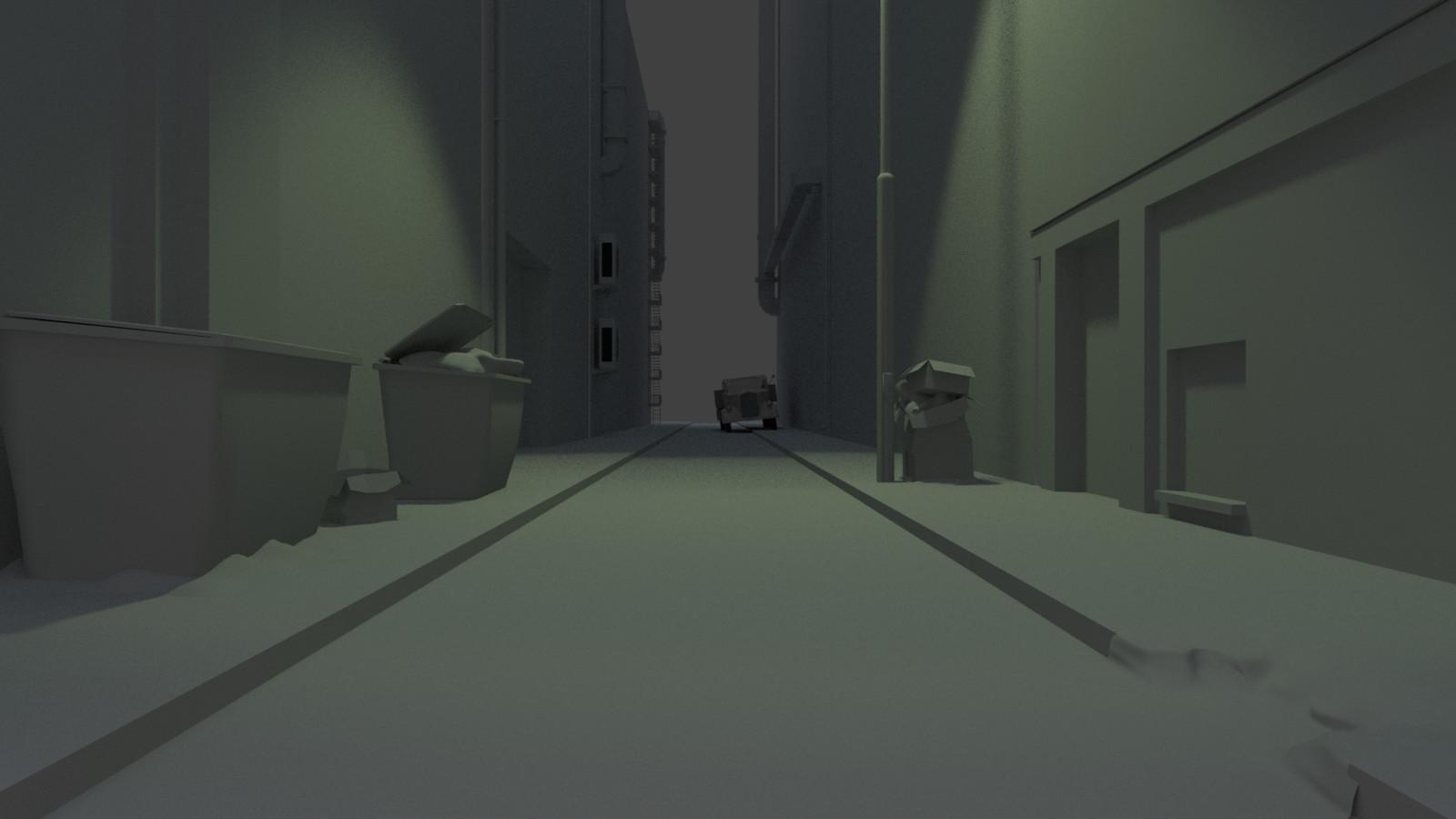 Base model of dark alley