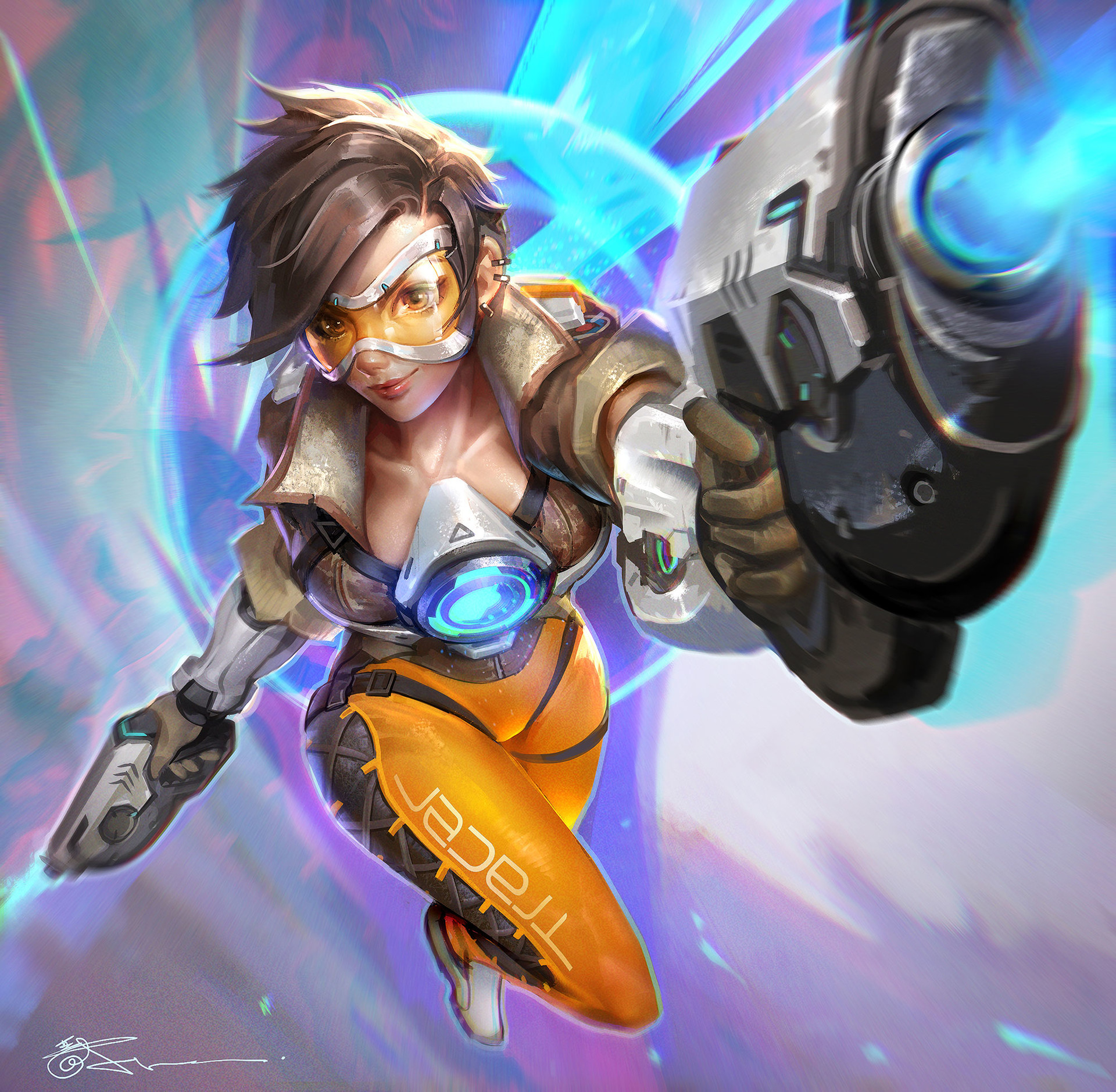 Jeremy chong overwatch tracer fanart2