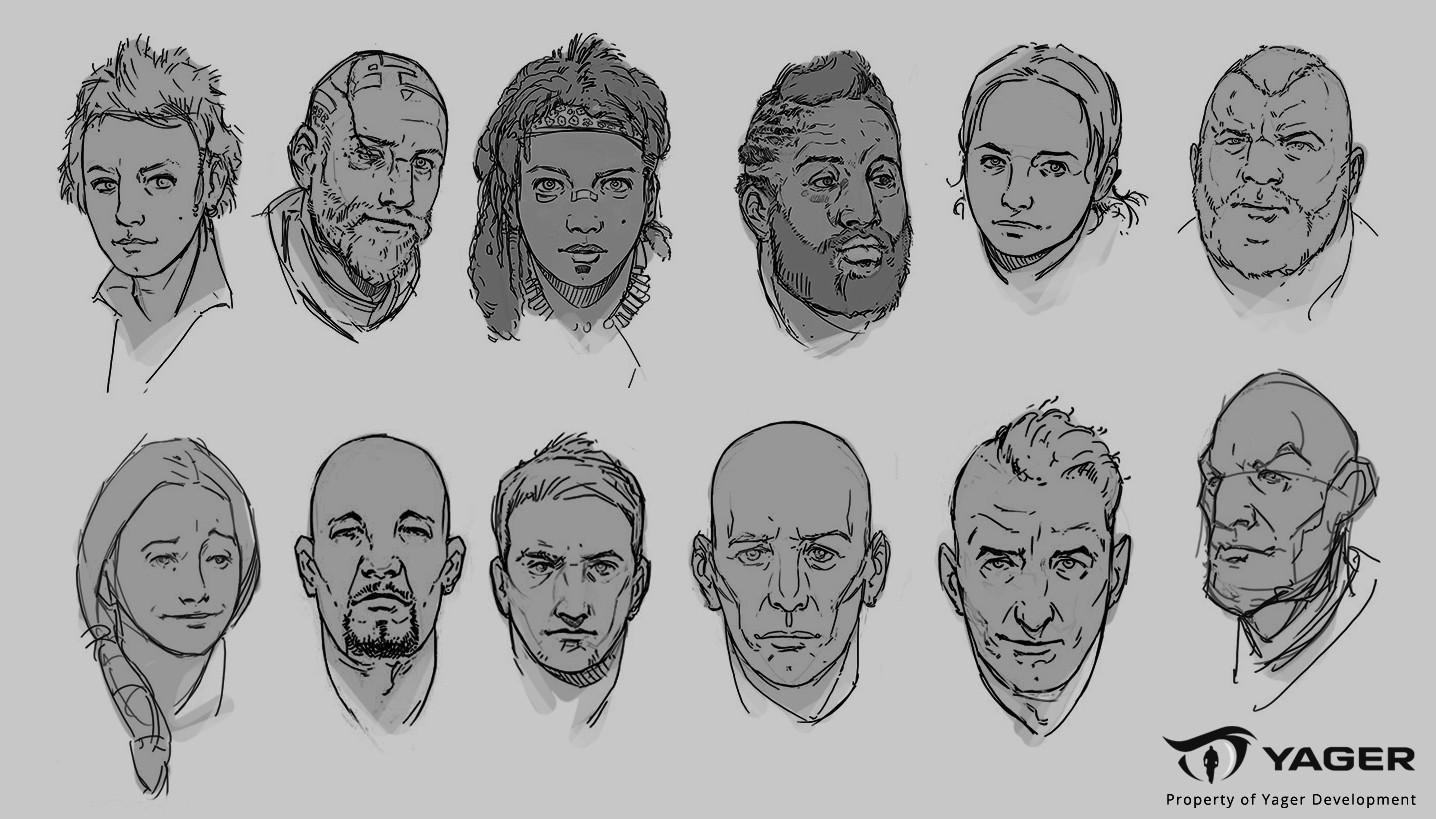artstation head sketches robert larsson