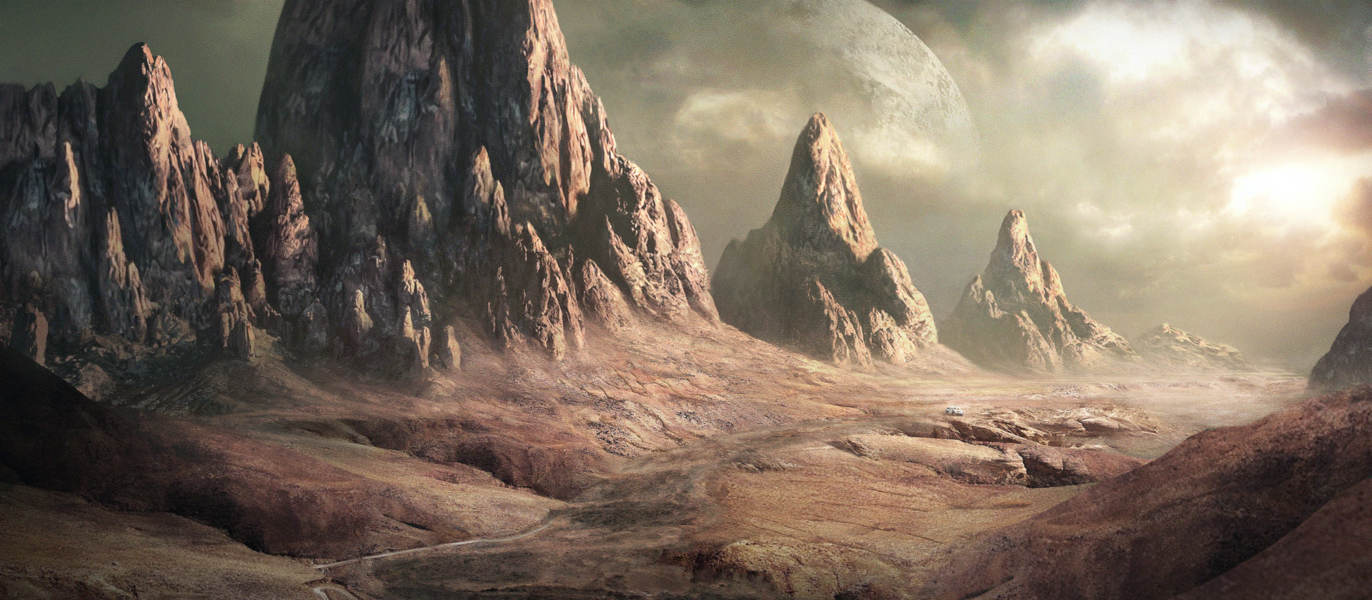alien landscapes paintings - HD 1920×840