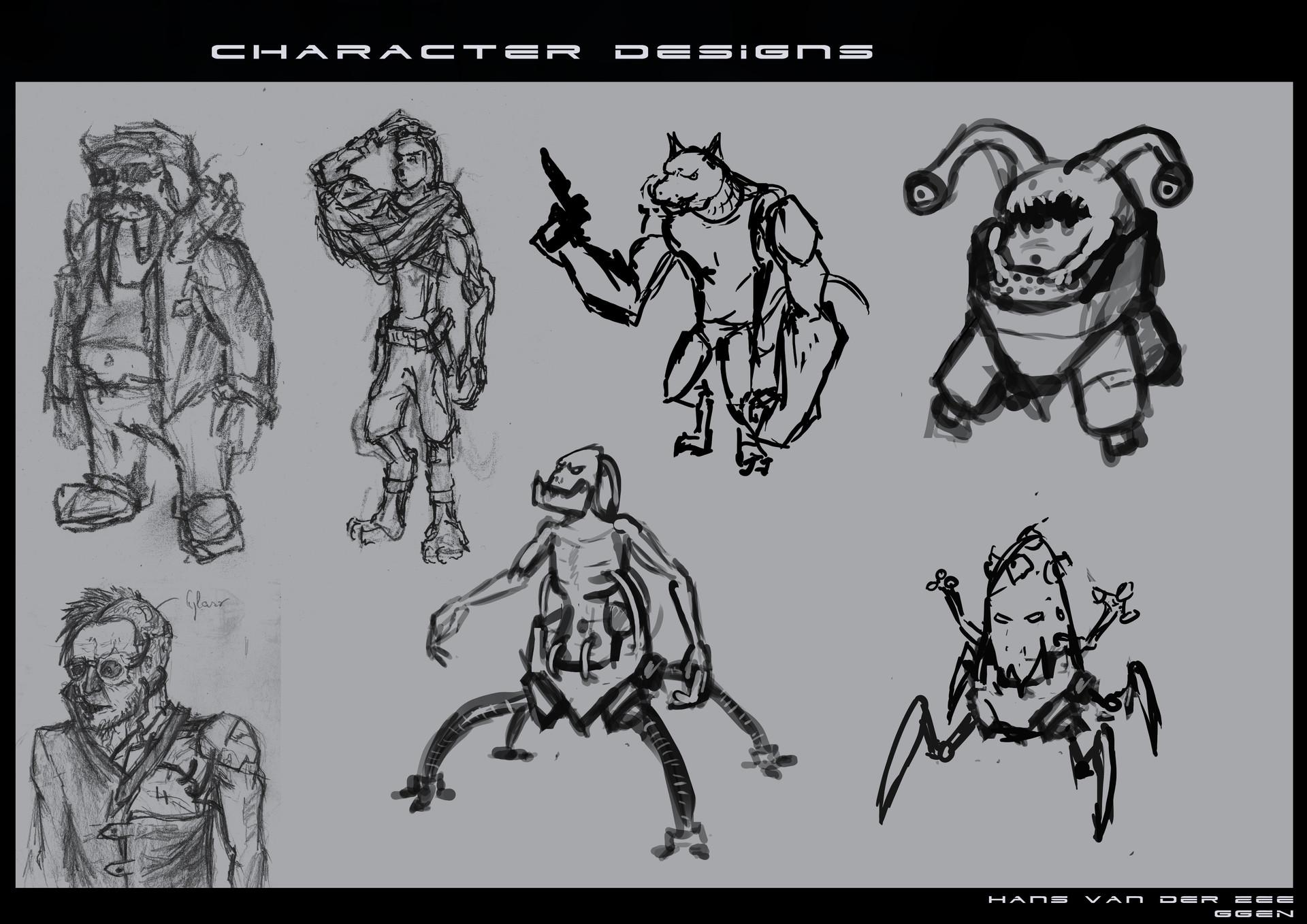 Hans van der zee 2ggen van der zee hans characterdesigns