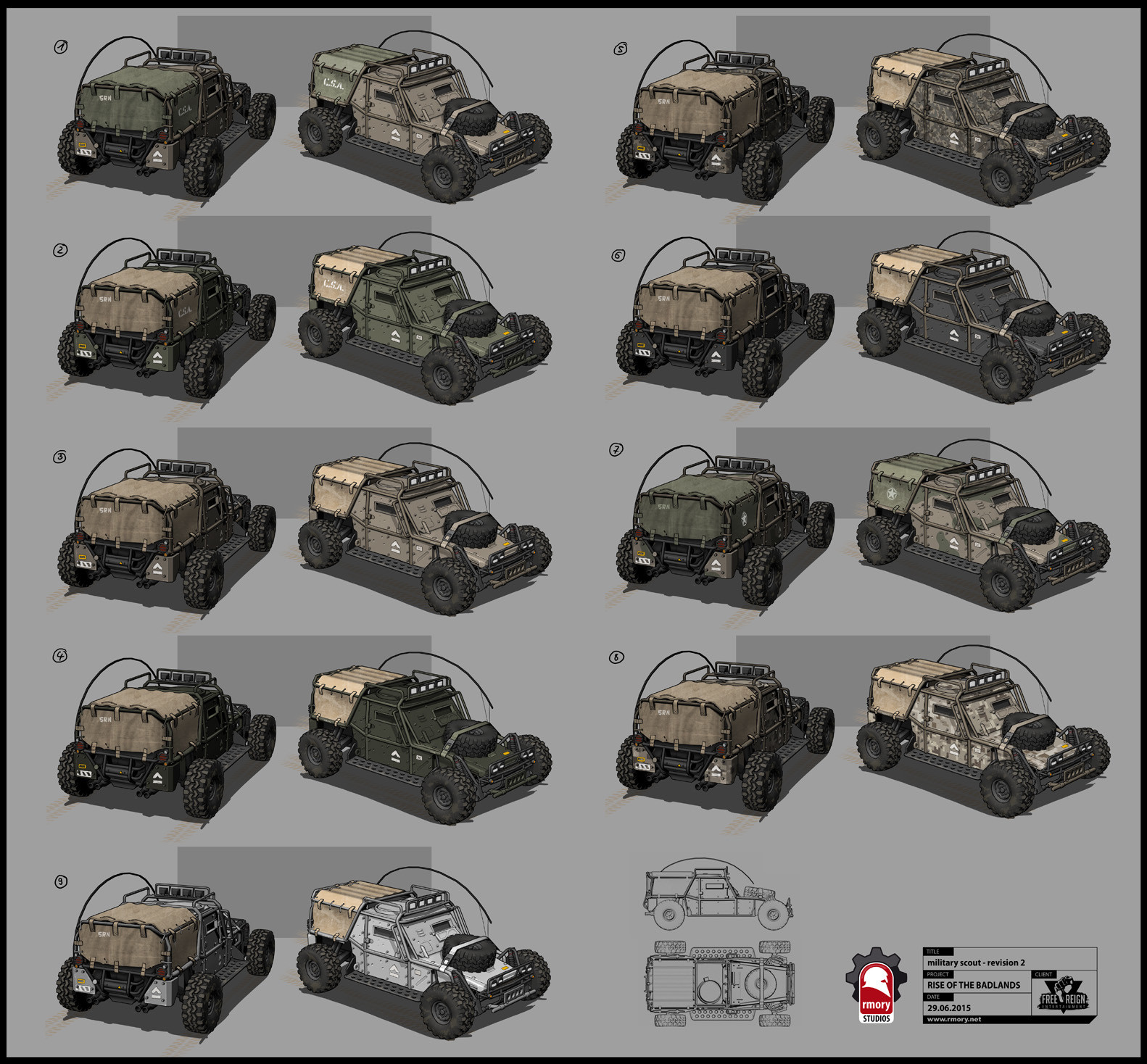 military scout color variations - rmory studios