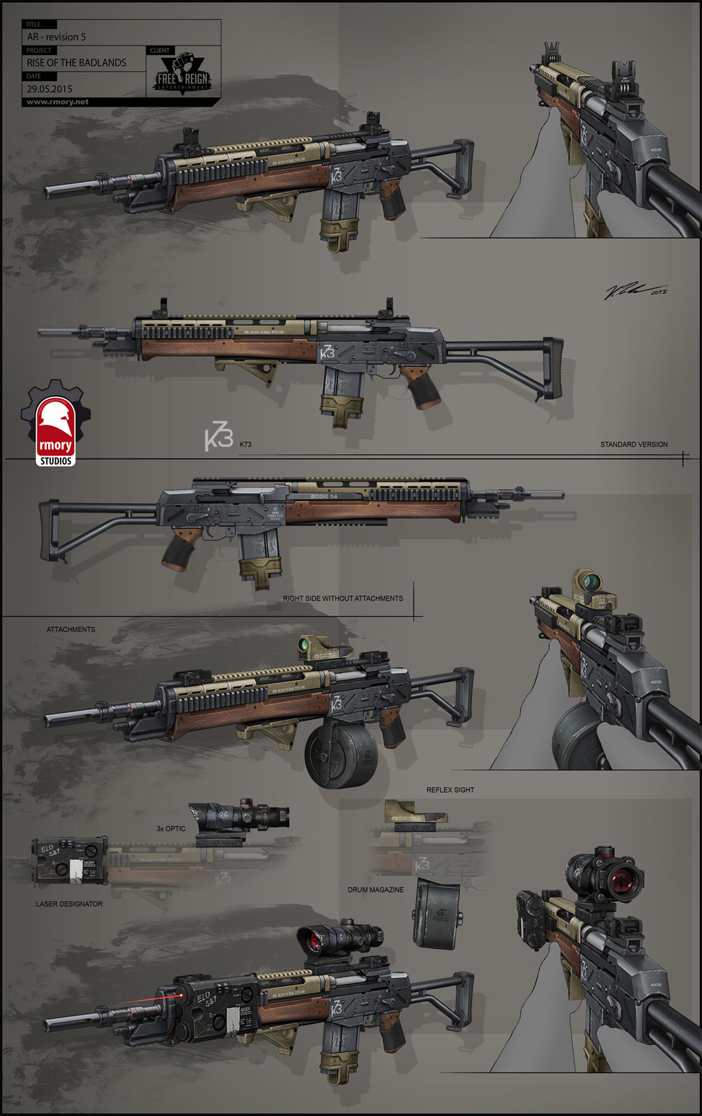 Rise of the Badlands Assault Rifle - rmory studios