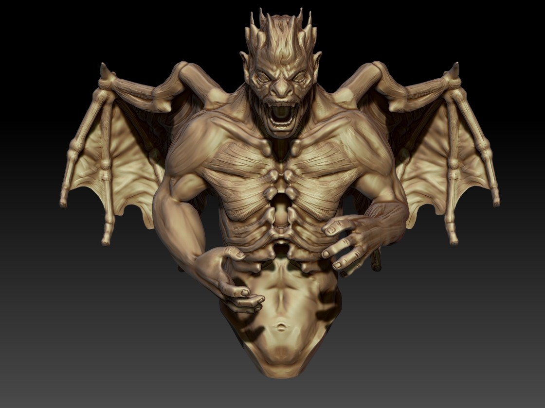Andrew krivulya final zbrush demon