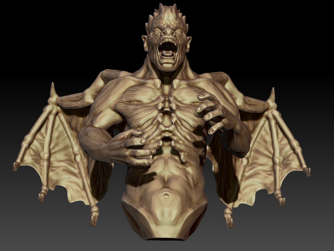 Andrew krivulya final zbrush demon3