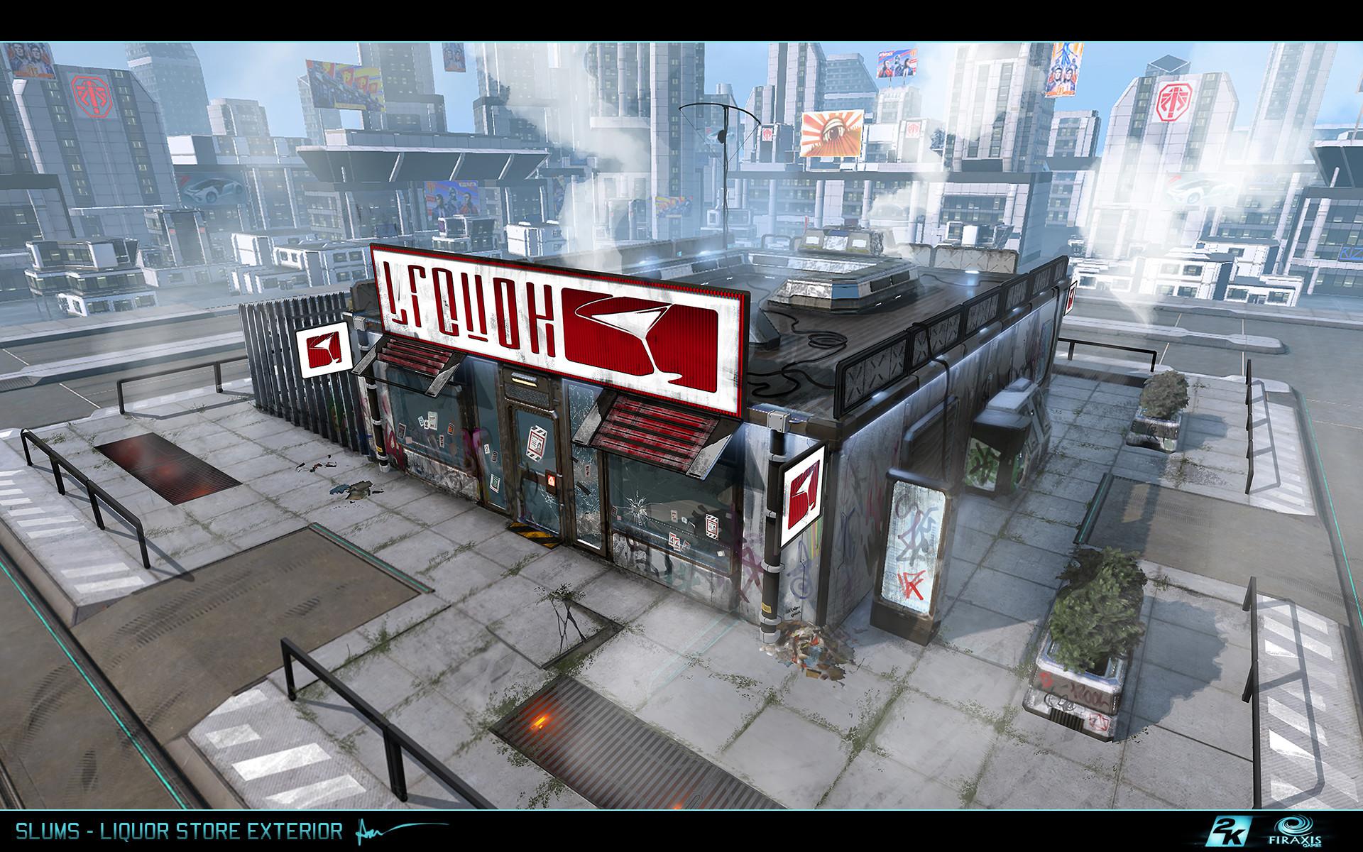 Samuel aaron whitehead slums liquor store exterior