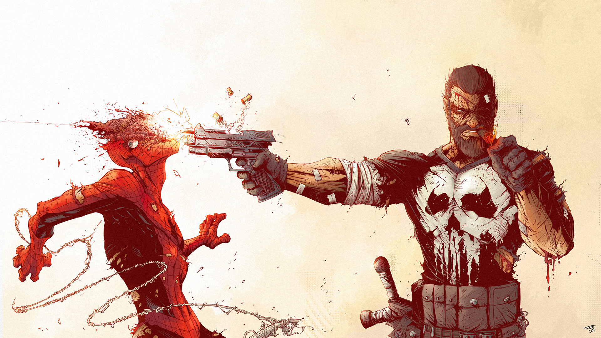 Tonton revolver punisher v spiderman