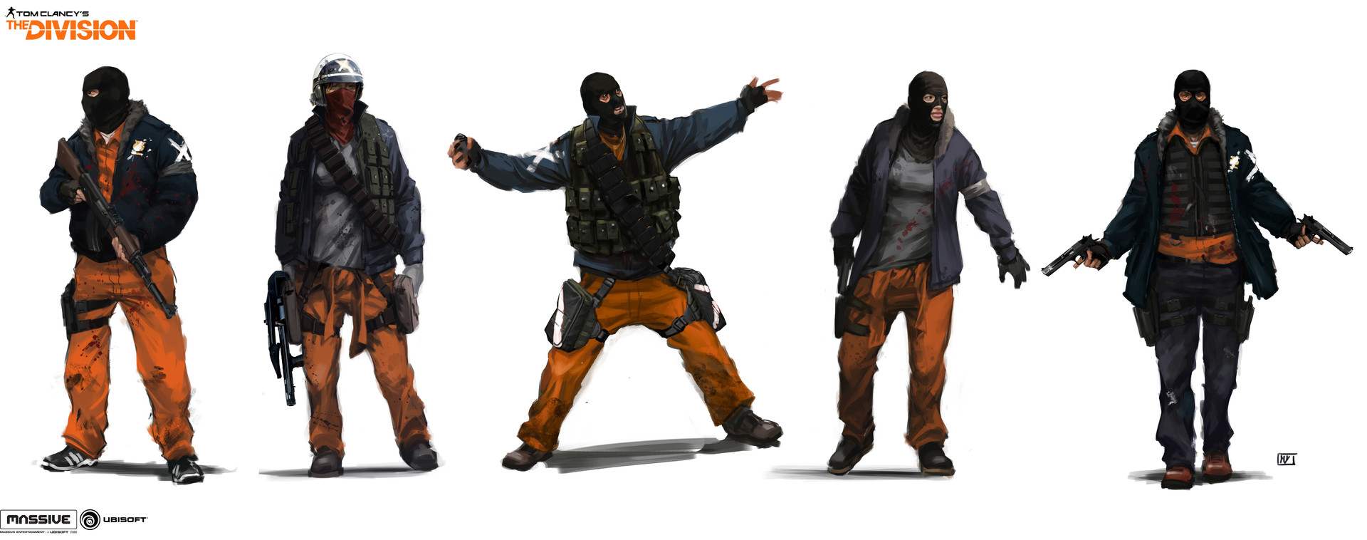 artstation the division enemy factions lineups concepts