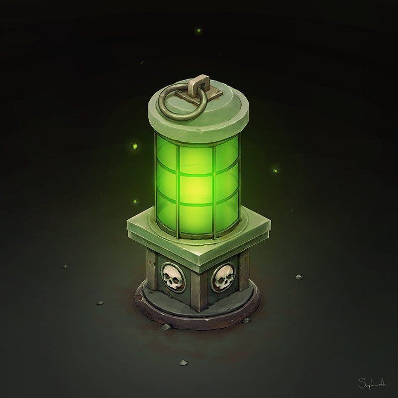 Isometric Green Lantern