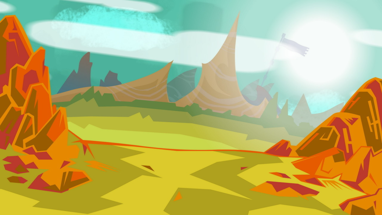 Background during the credits sequence.