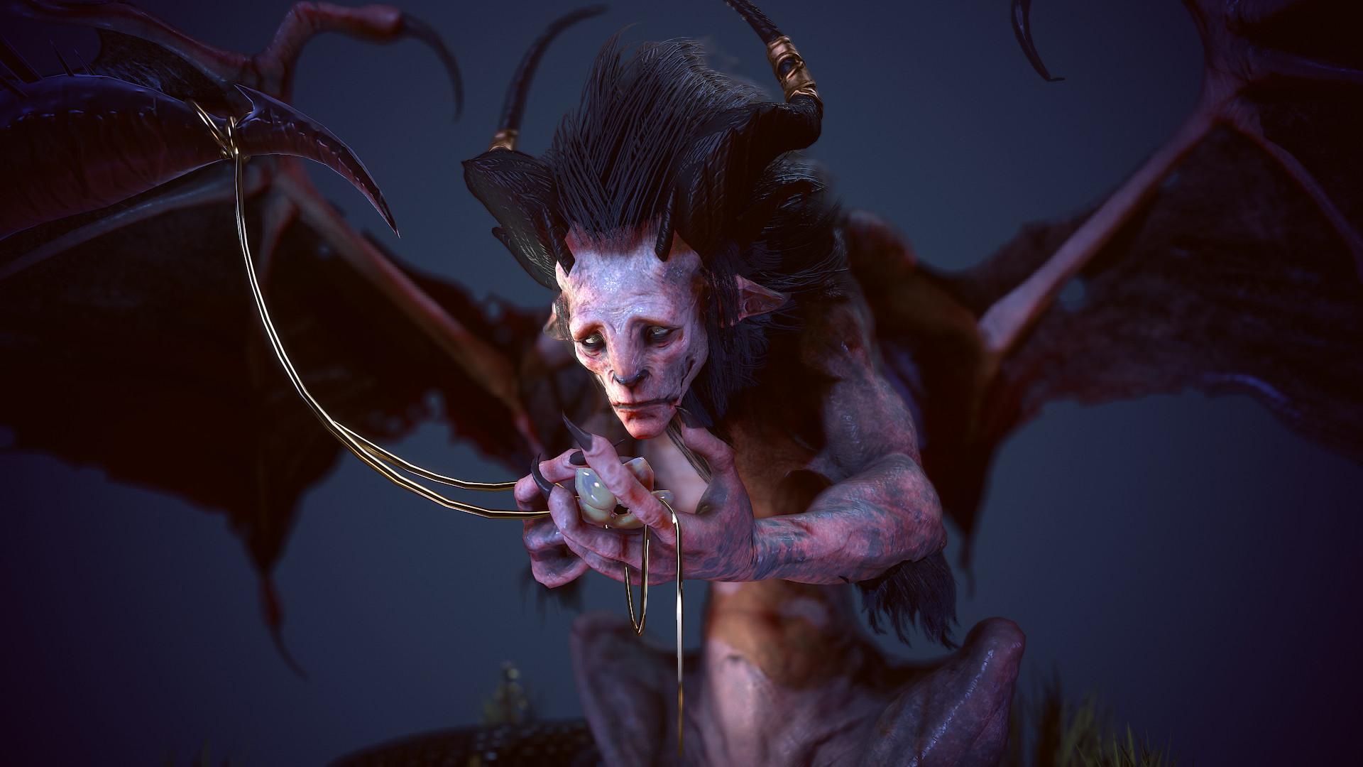 Natalia P Guti 233 Rrez🐲 Polycount S The Beast Contest