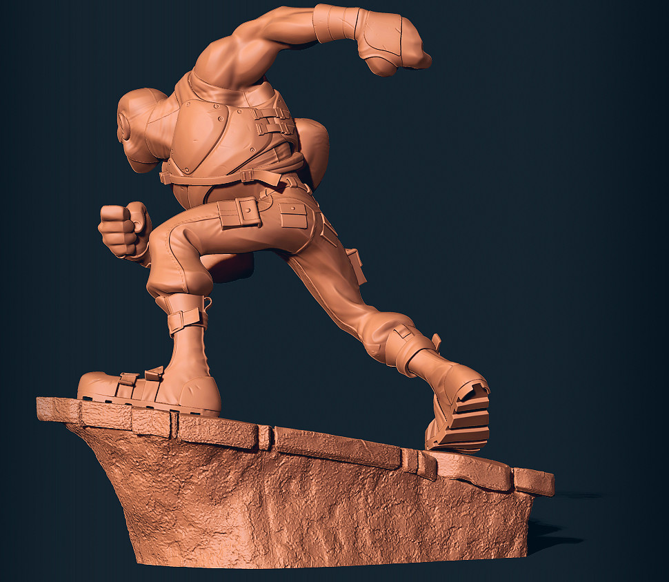 Brotherman sculpt by pointpusher, character created by Dawud Anyabwile and Guy A. Sims