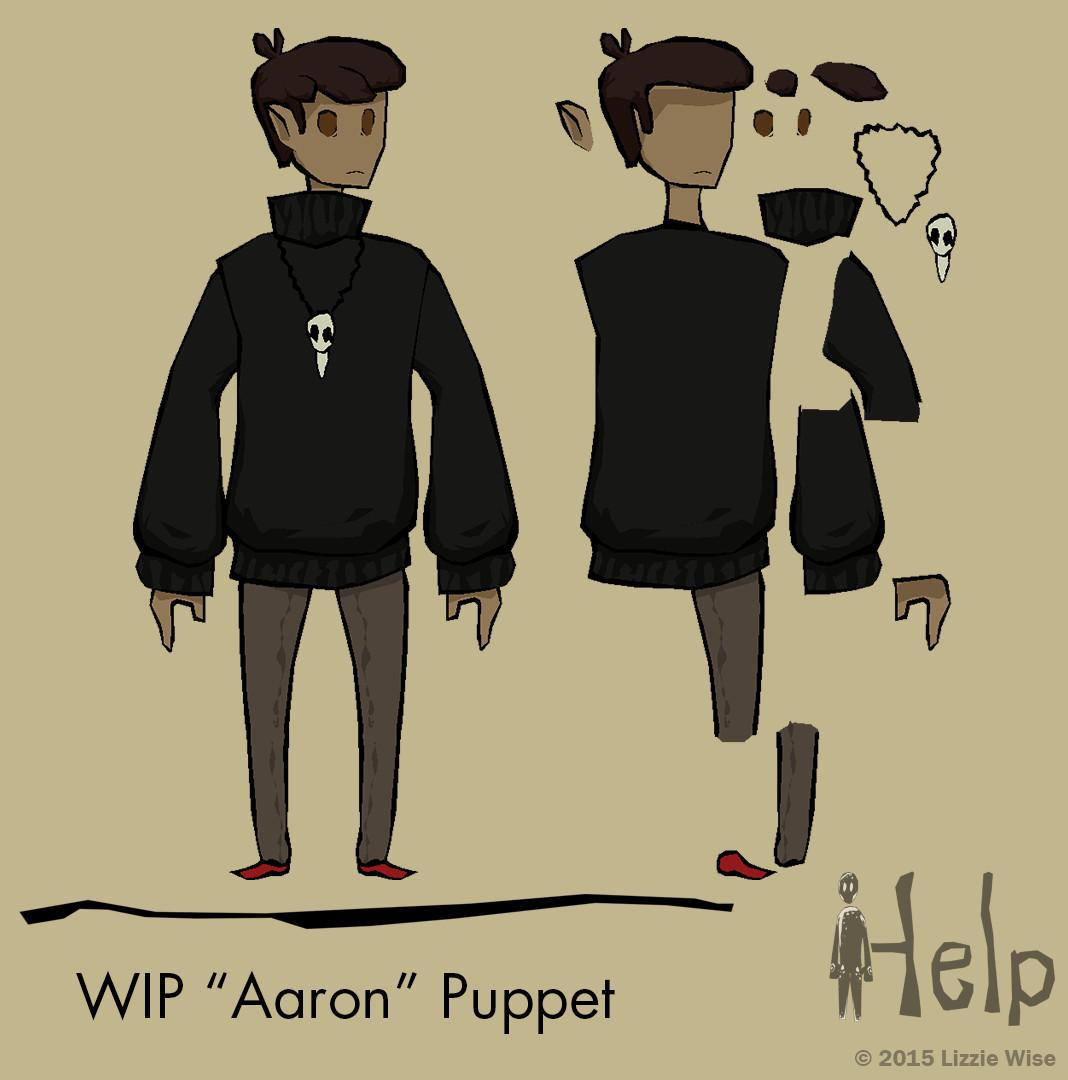 Lizzie wise wip aaron puppet