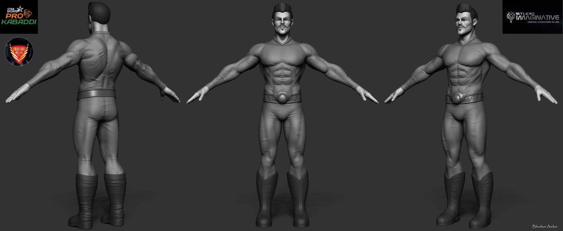 Mid level model provided,responsible for sculpting,UV/Bake and first stage texturing.