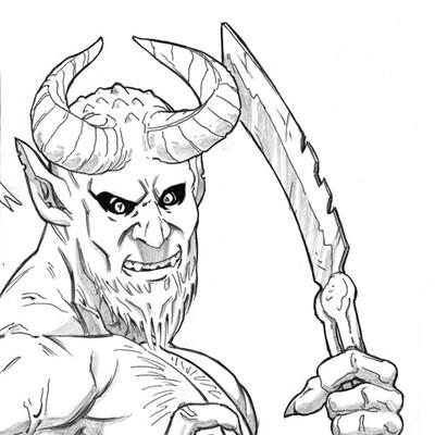 Saimon toncelli devil sketches by artbysai d4fparw