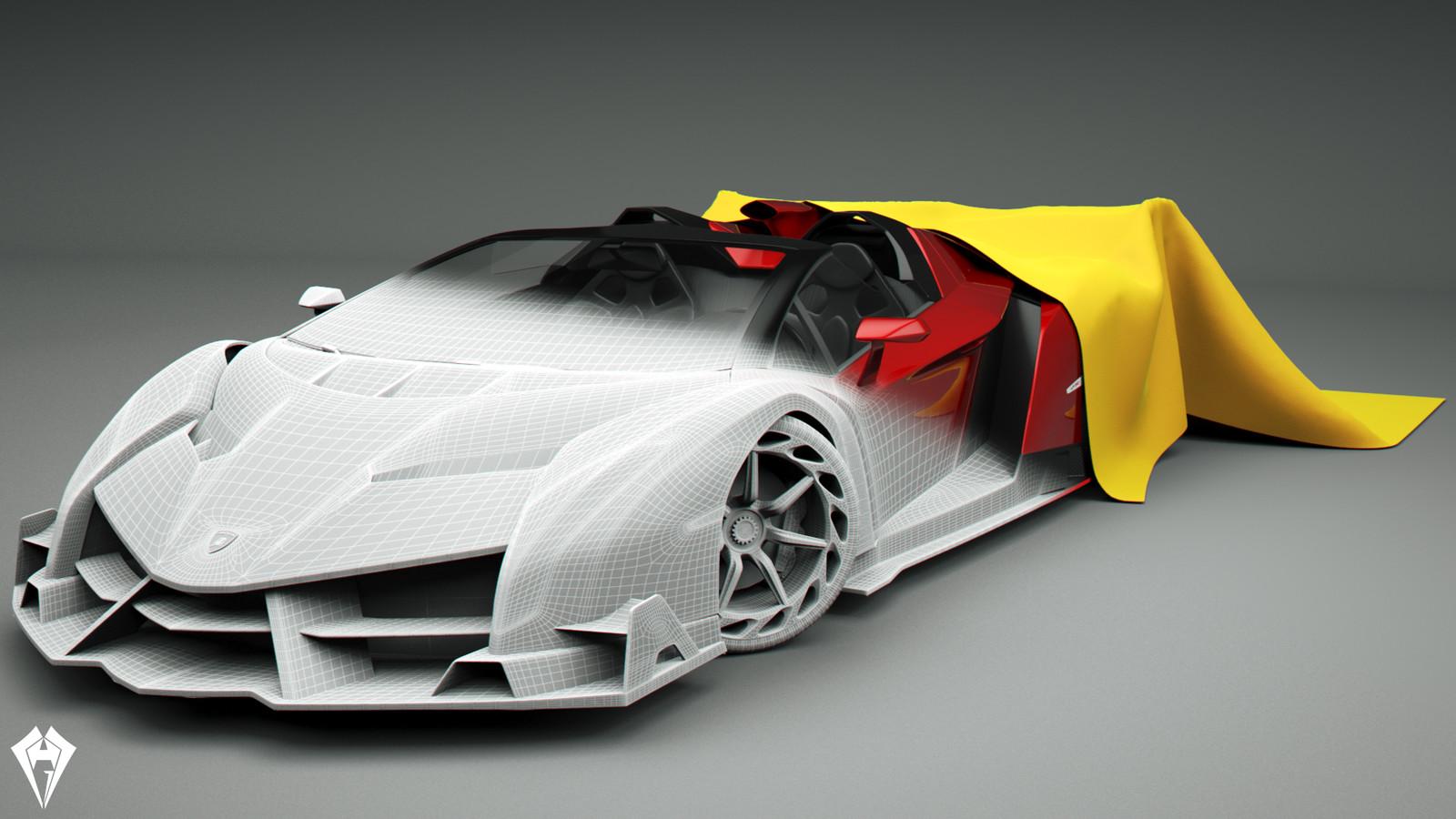 Lamborghini Veneno Roadster 3 by hugo matilde
