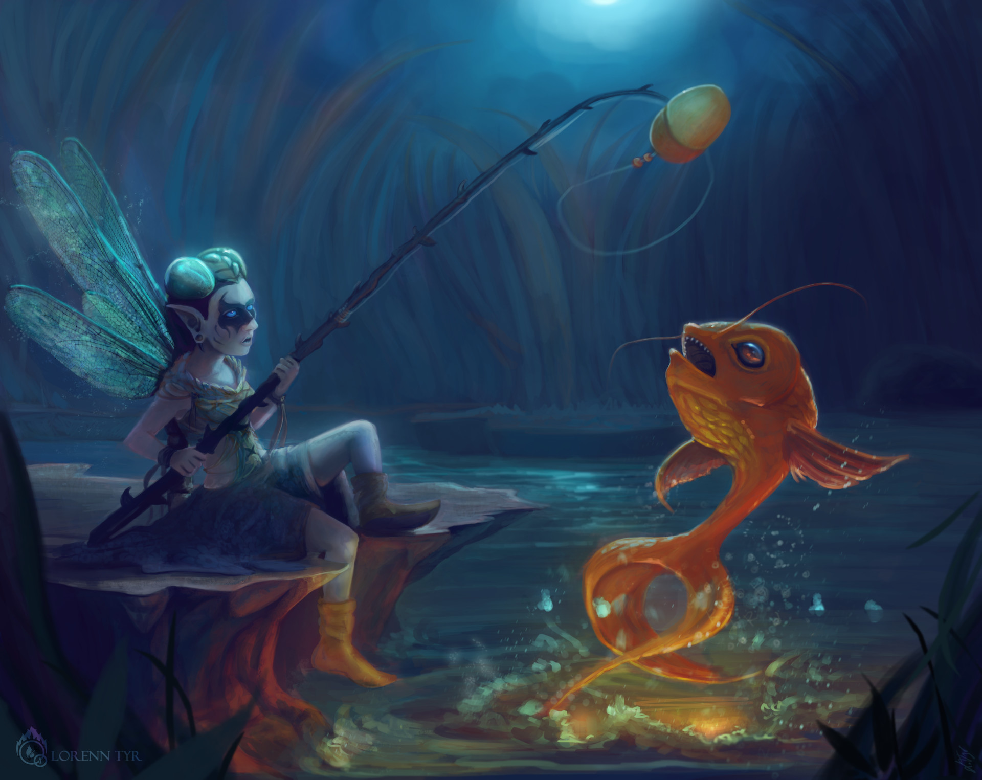 Lorenn tyr hada pescando normal