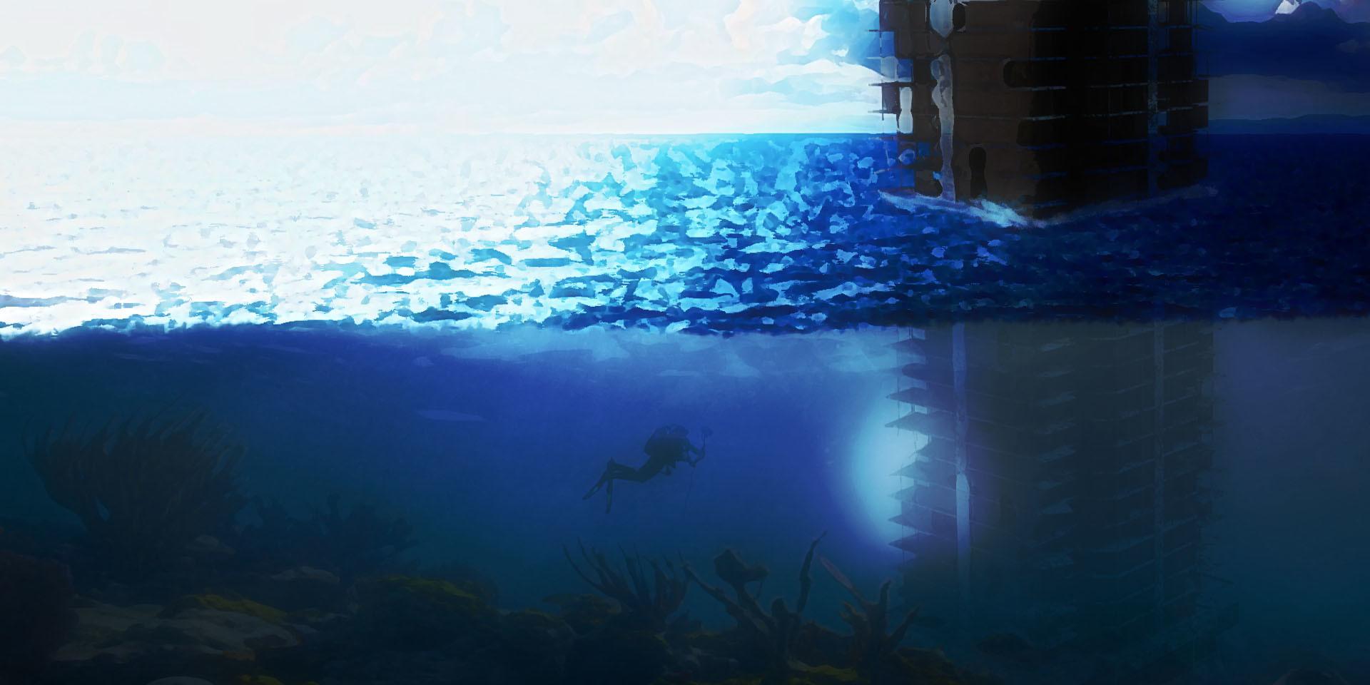 Rene berwanger under water