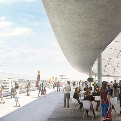 Play time architectonic image nikken sekkei pacual ausio nou camp nou barca coberta