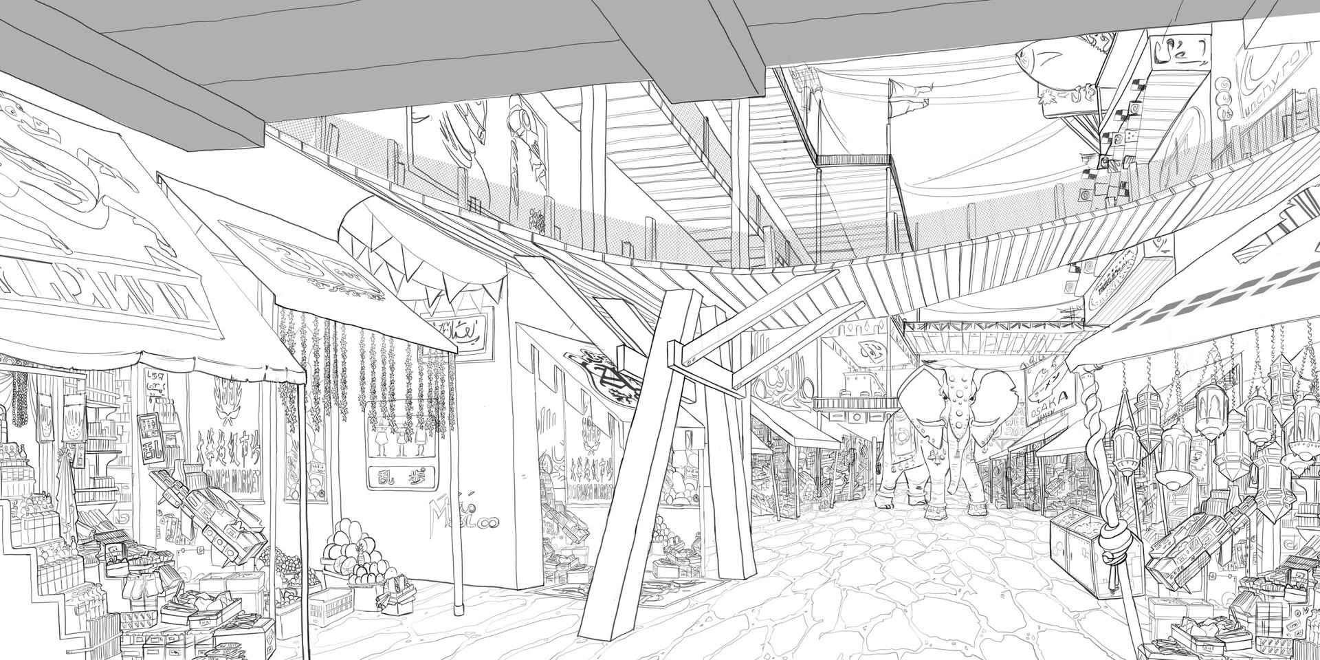 Olivia hamza market layout