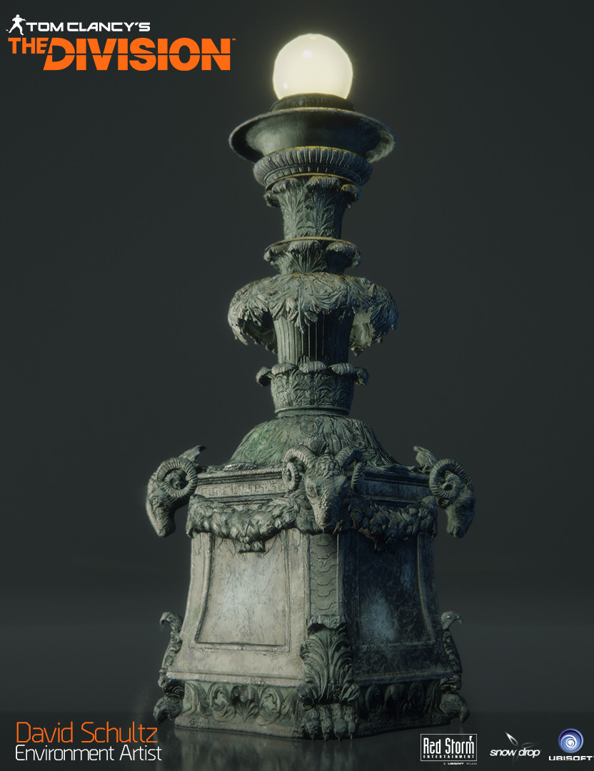 Bryant Park Lamp Post Ingame