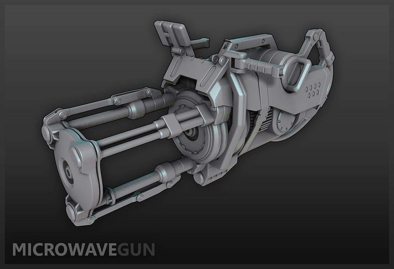 ArtStation - Microwave Gun, M  STOCK