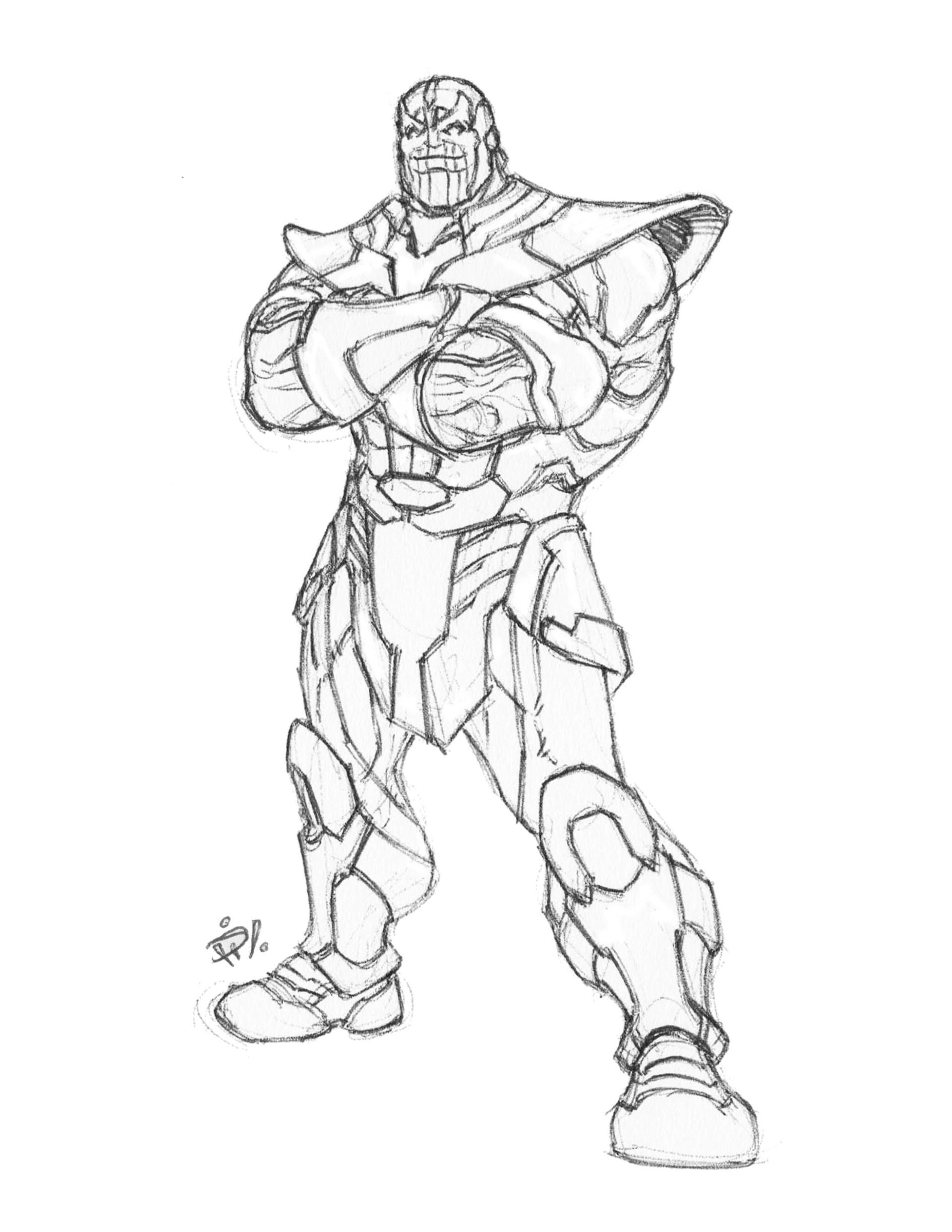 ArtStation - Thanos pensketch, Gerald Pilare