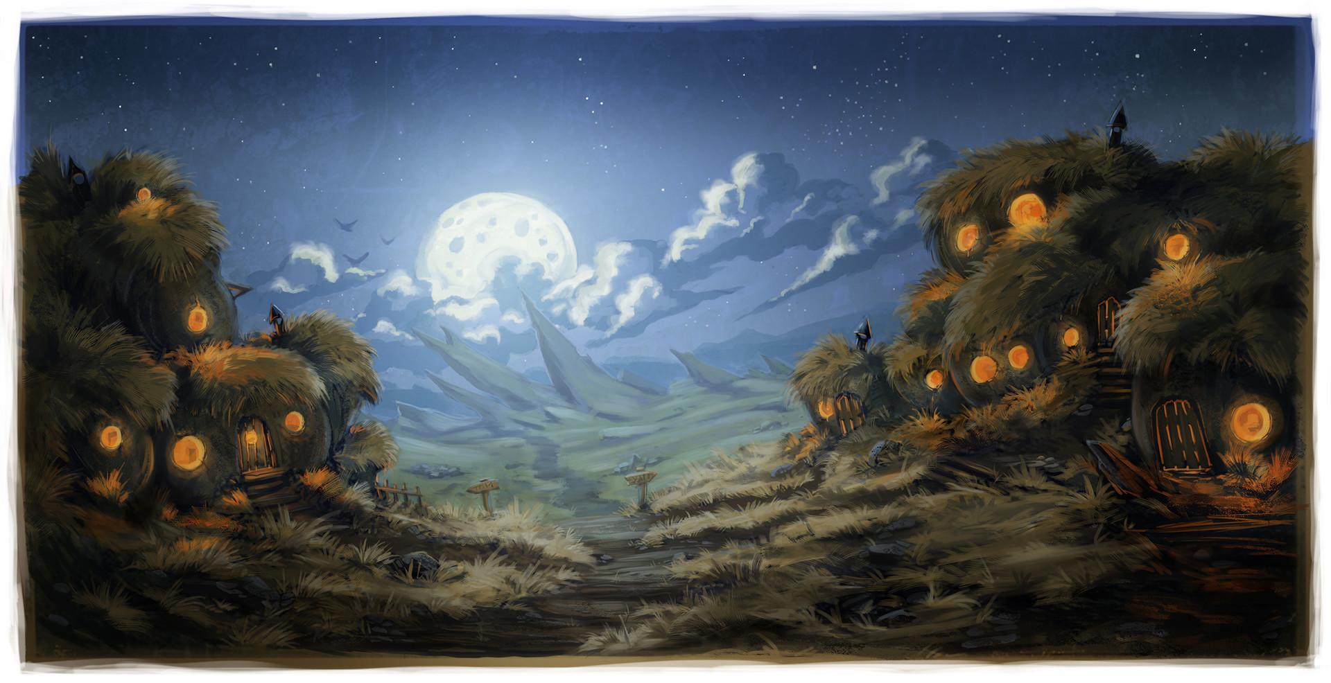 Artstation 15 52 Weekly Paintings Fantasy Village Landscape Mike Phillips