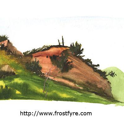 Paul forest limestone canyon ridge