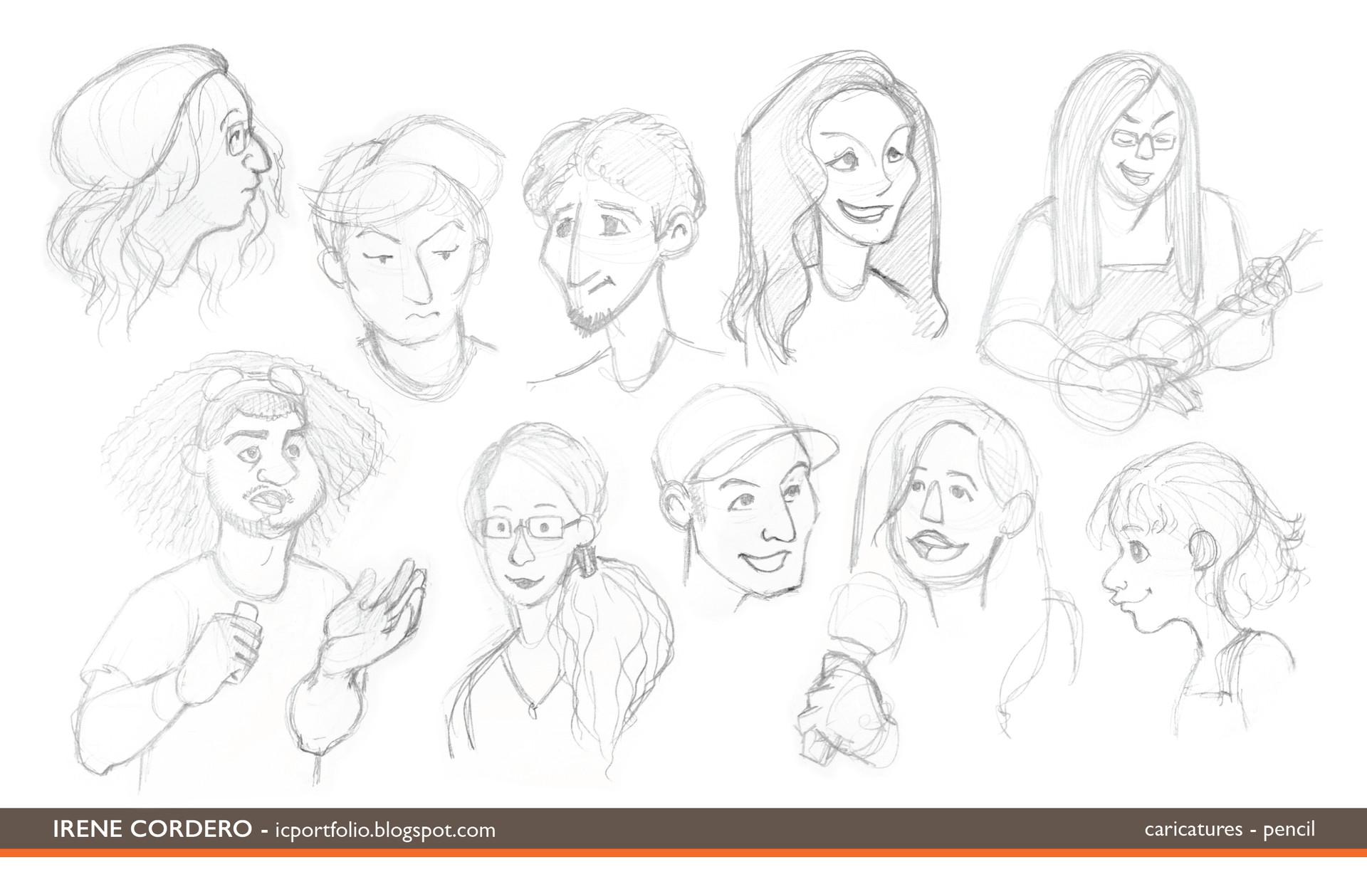 Irene cordero caricatures3