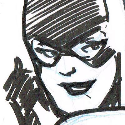 Andre stahlschmidt cat woman sketch