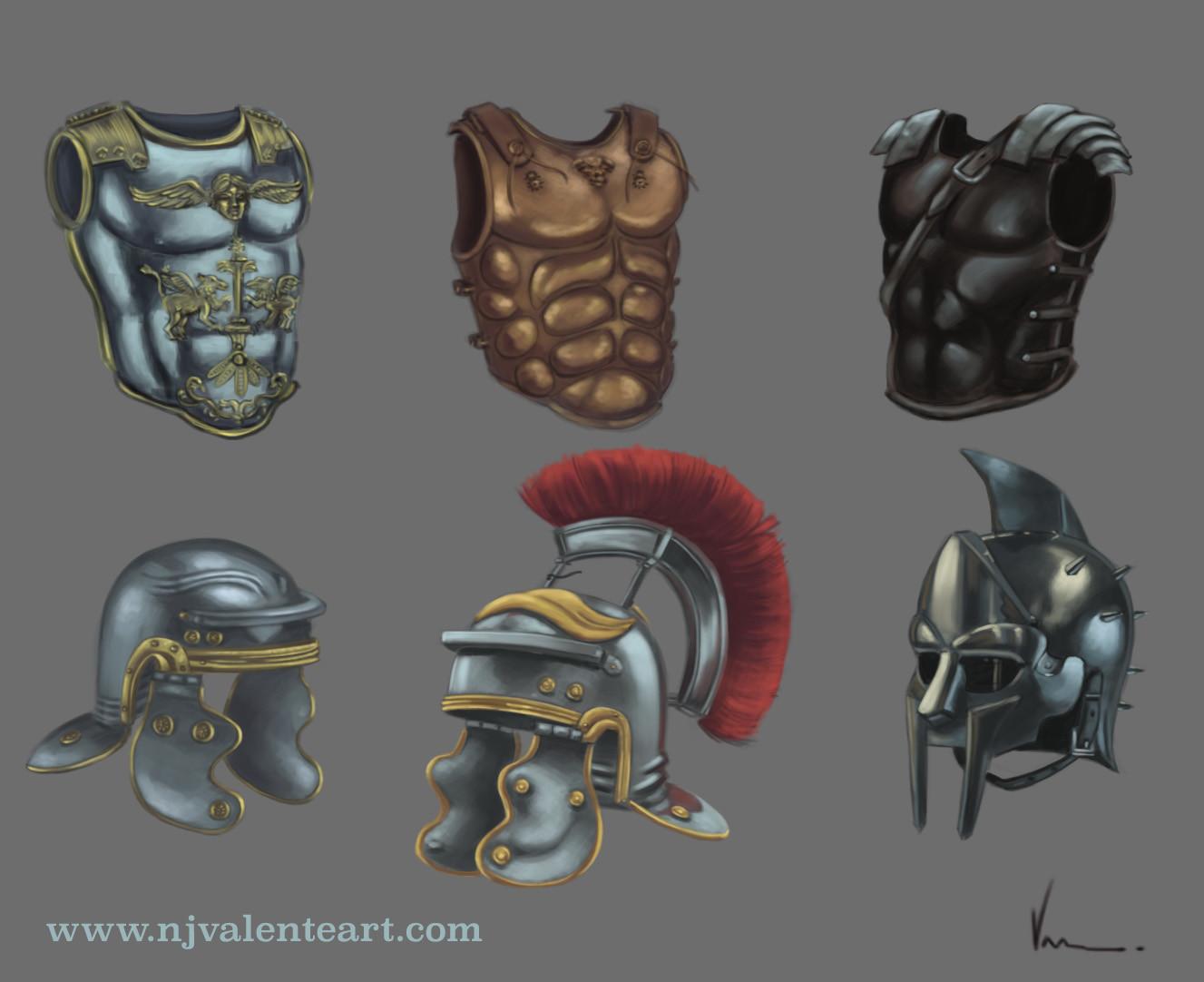 Roman armor studies