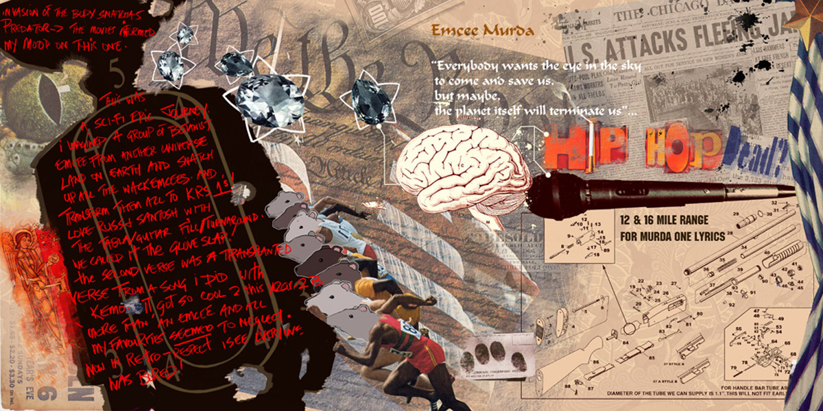 Lyric murda lyrics : ArtStation - K-os album artwork, Nelson Dedos Garcia