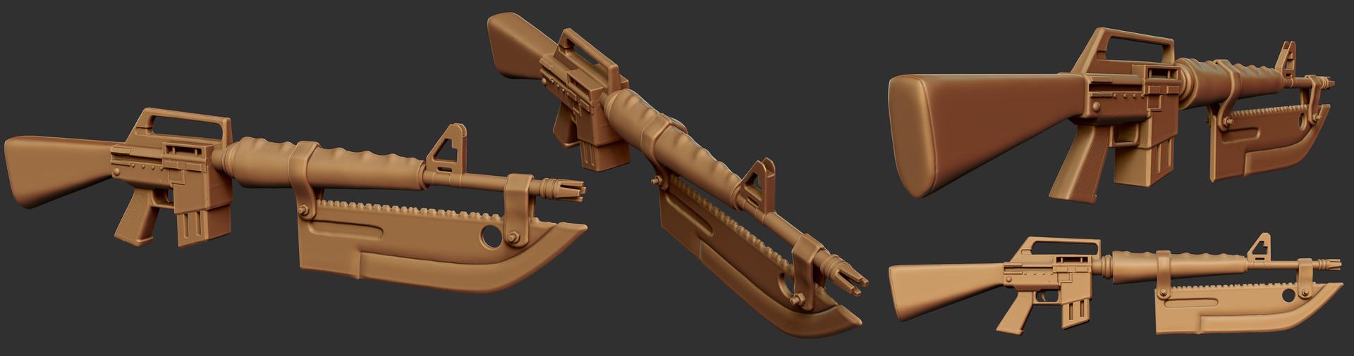 Weston reid ares solider gun