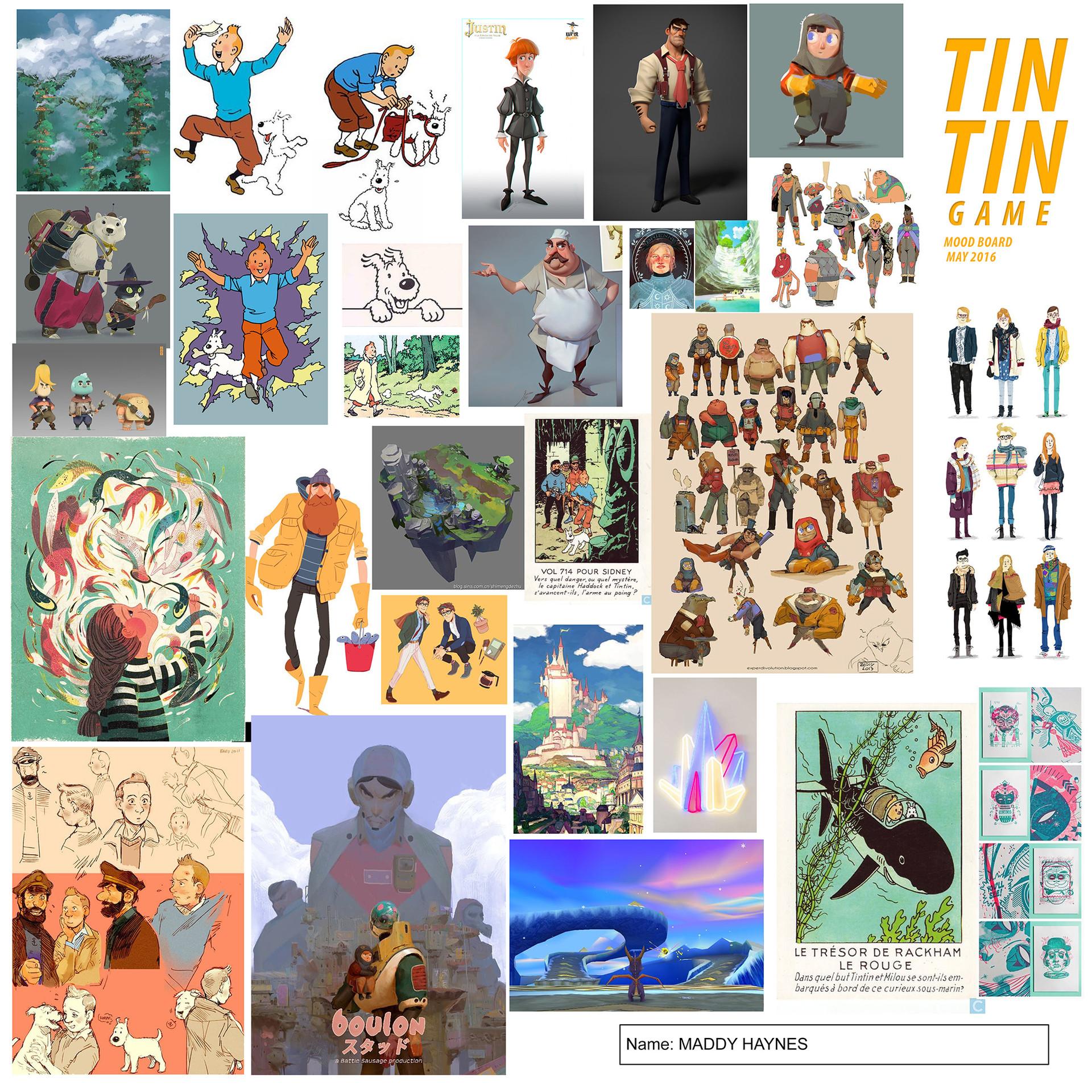 Artstation Tintin Character Design Game Madeline Haynes