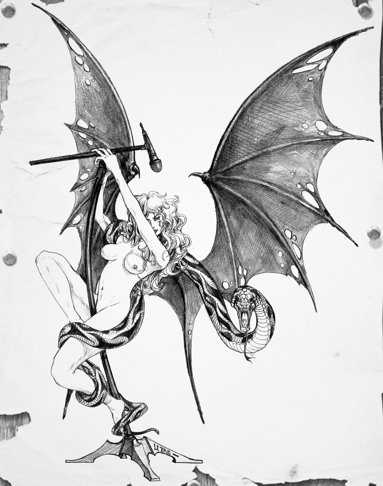 Artstation Pencil Drawing Heavy Metal Tom Lee