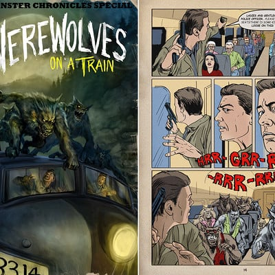Chris scalf werewolves on a train by chrisscalf d8euajh