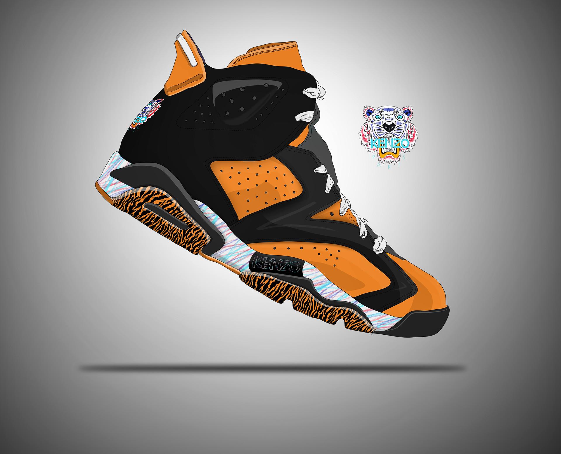 0d81771f ArtStation - Kenzo x Nike Air Jordan 6 Tiger kickz, Roman Bidnyy