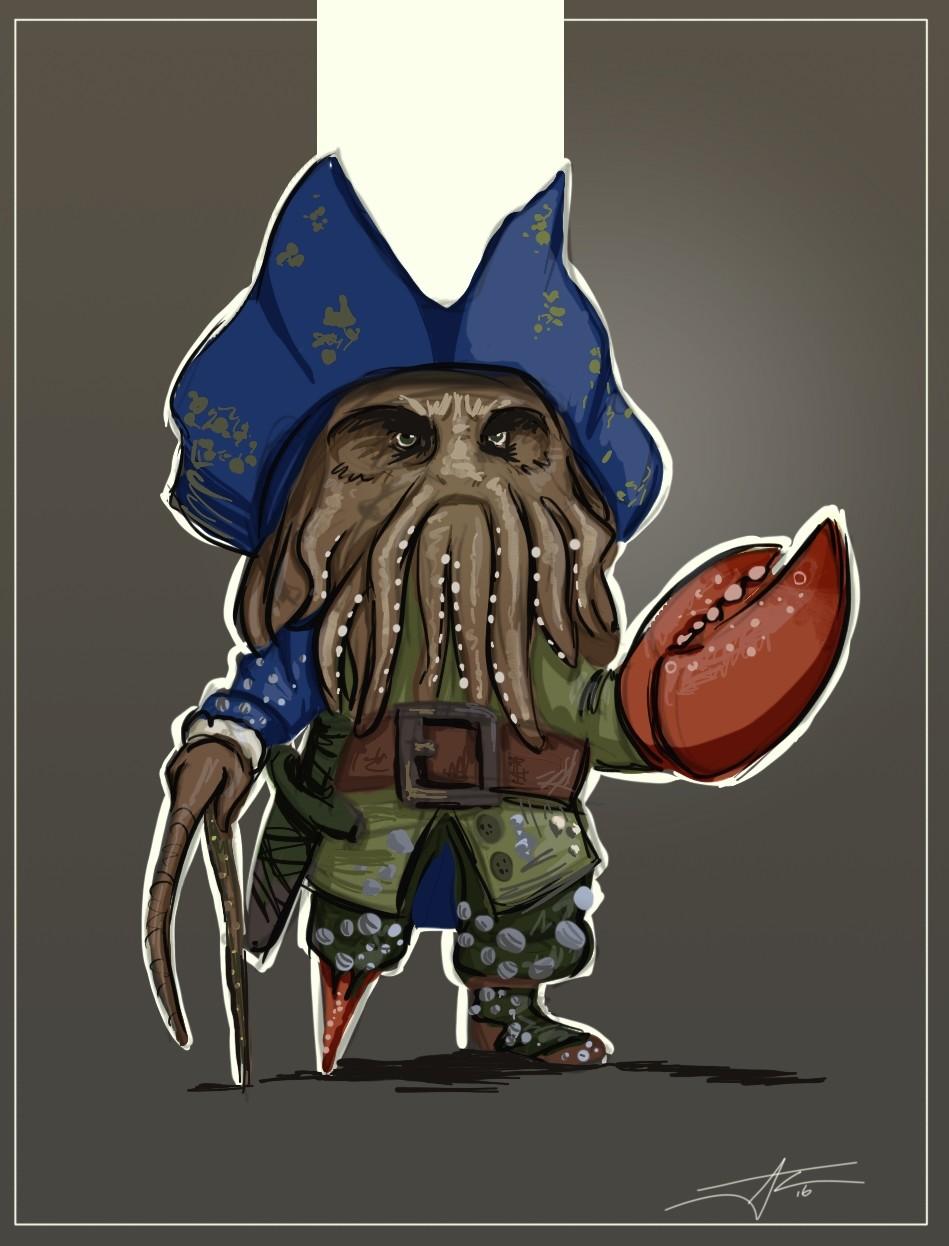 Davy Jones Character Design