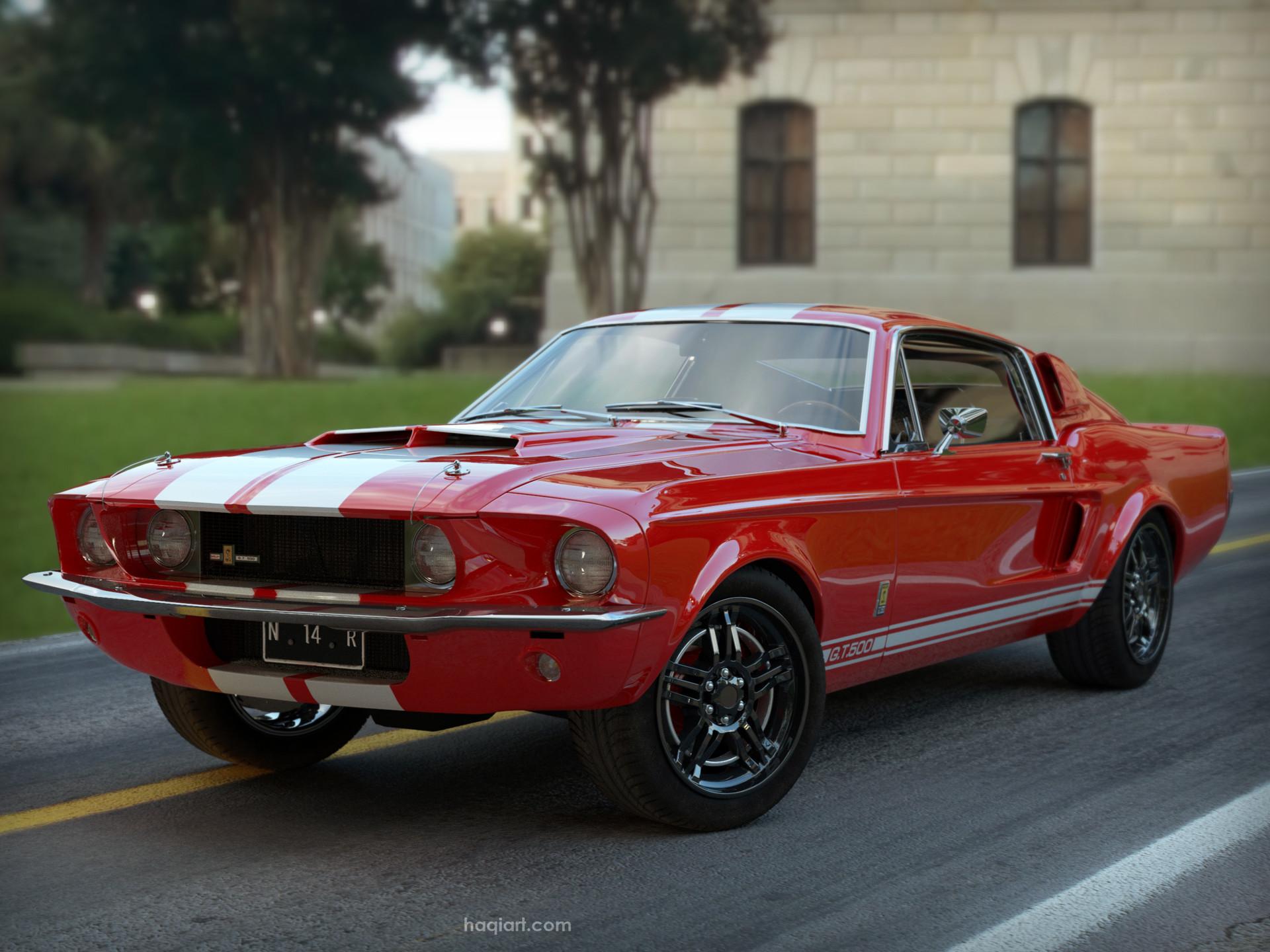 ArtStation - Mustang Shelby GT500 1967 Modeling, Ahmad