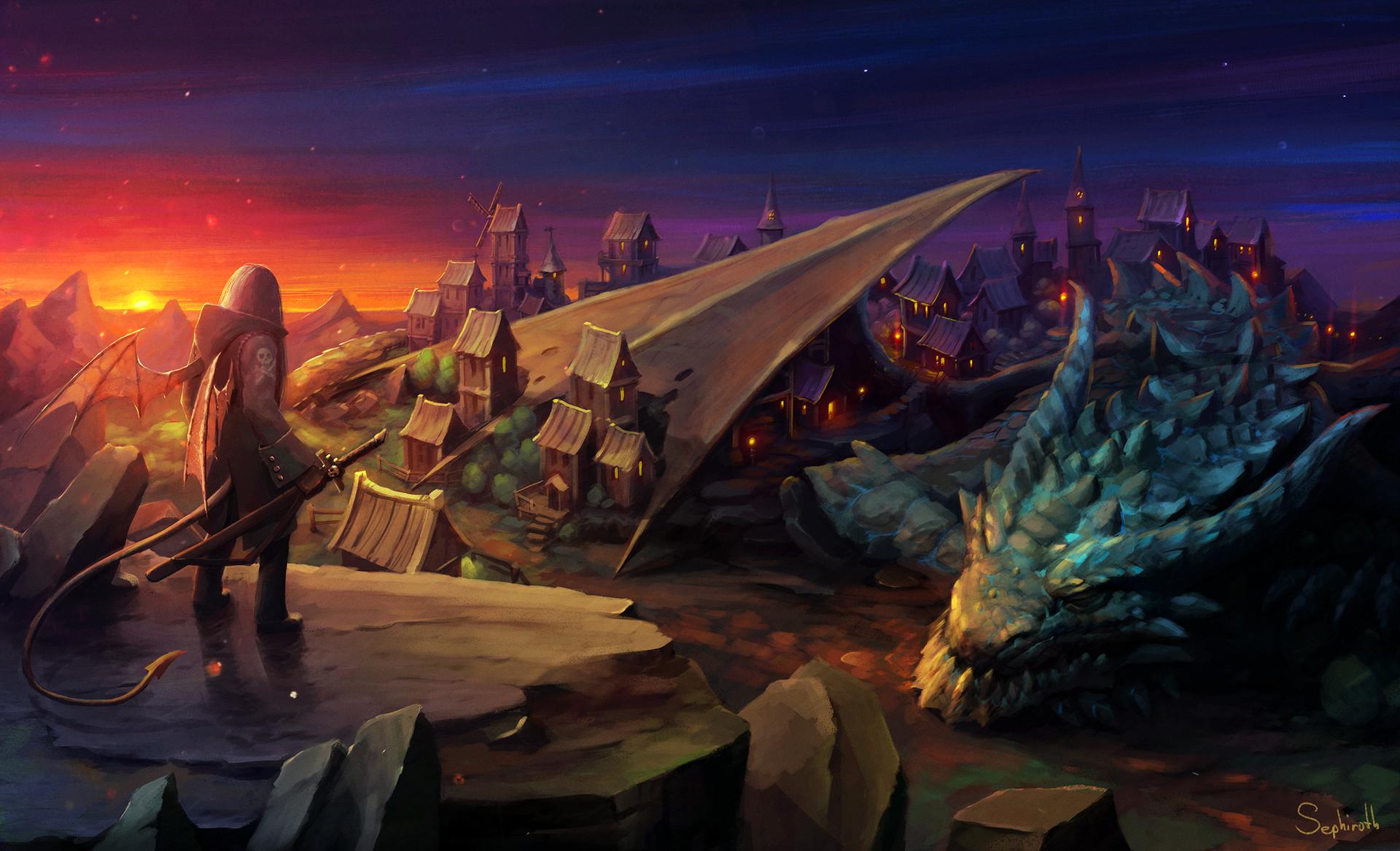 Sephiroth art 2d environment art challenge sephirothart