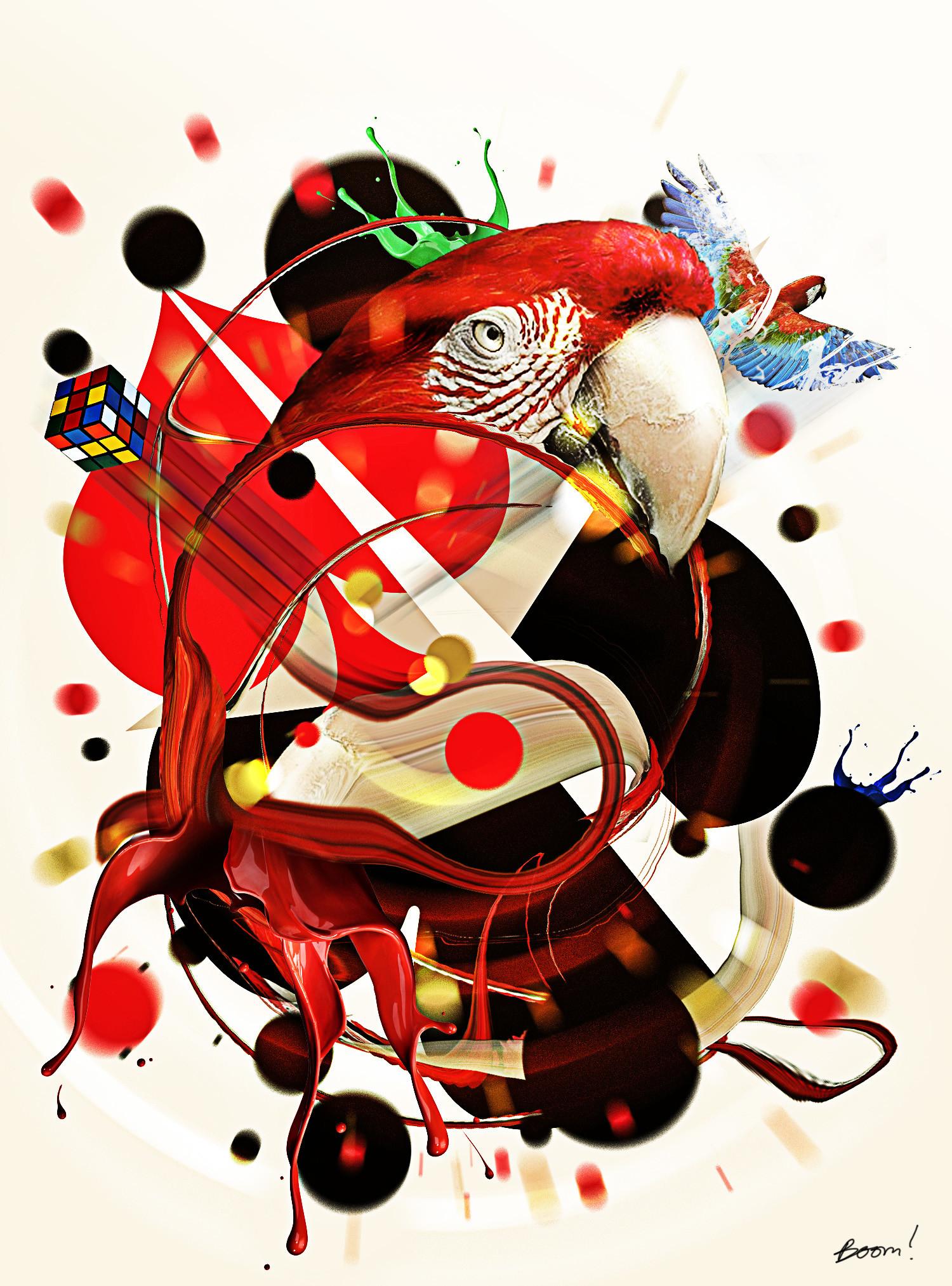 Obum asota stylized bird