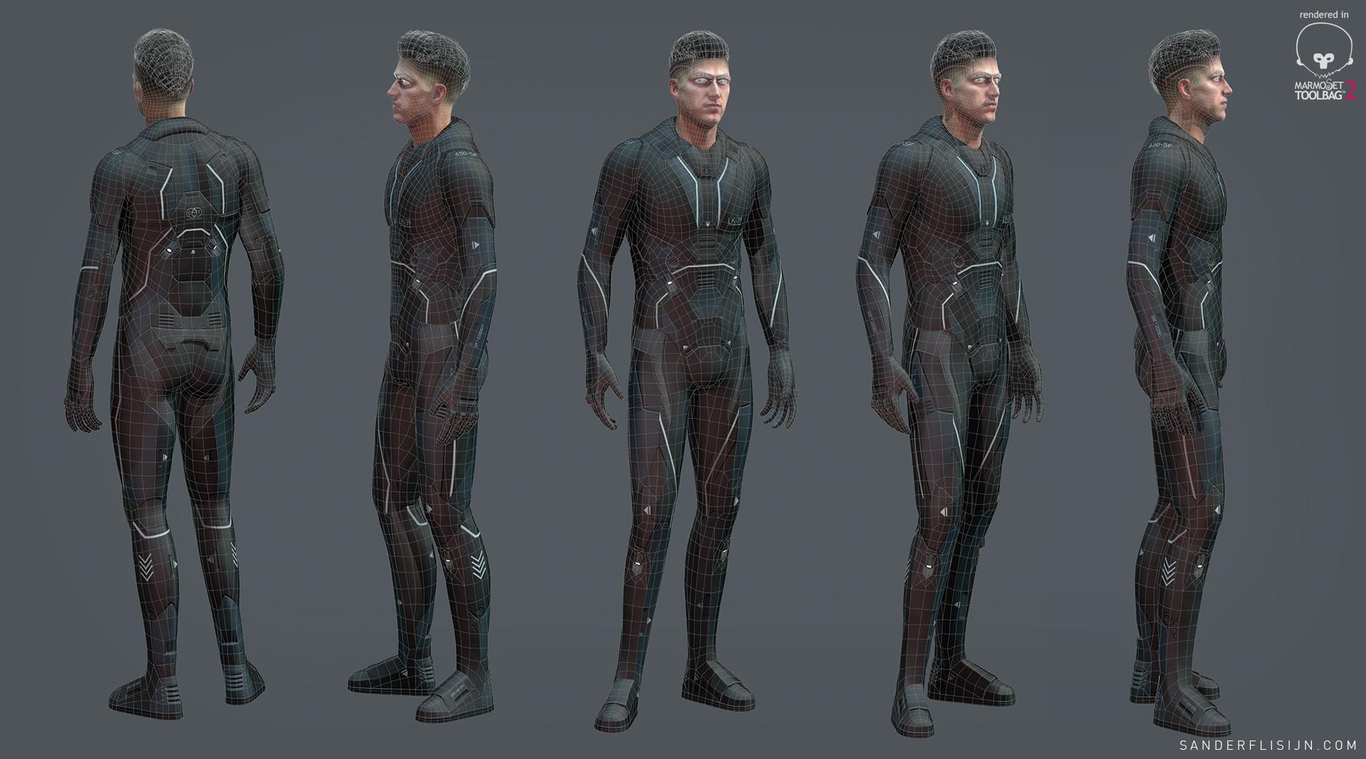 Sander Flisijn Sci Fi Character