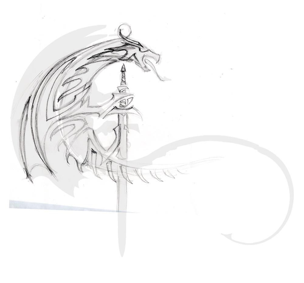 Stefan kopinski dragon sketch