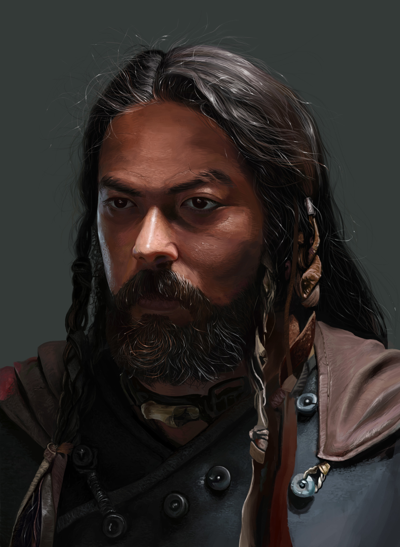 Artstation Mongol Portrait Cuervo Iba 241 Ez