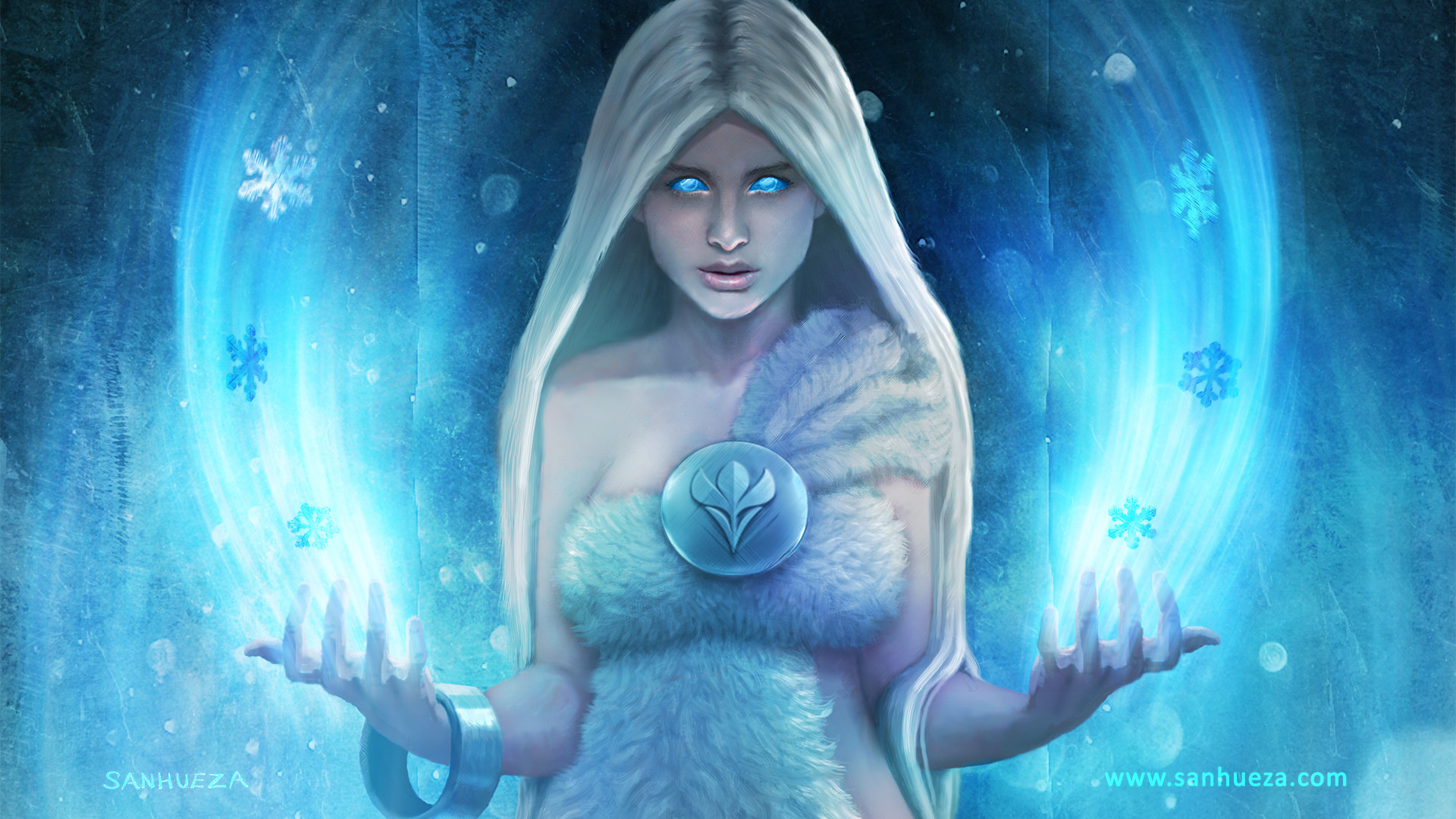 David sanhueza gameogami snowqueen wallpaper