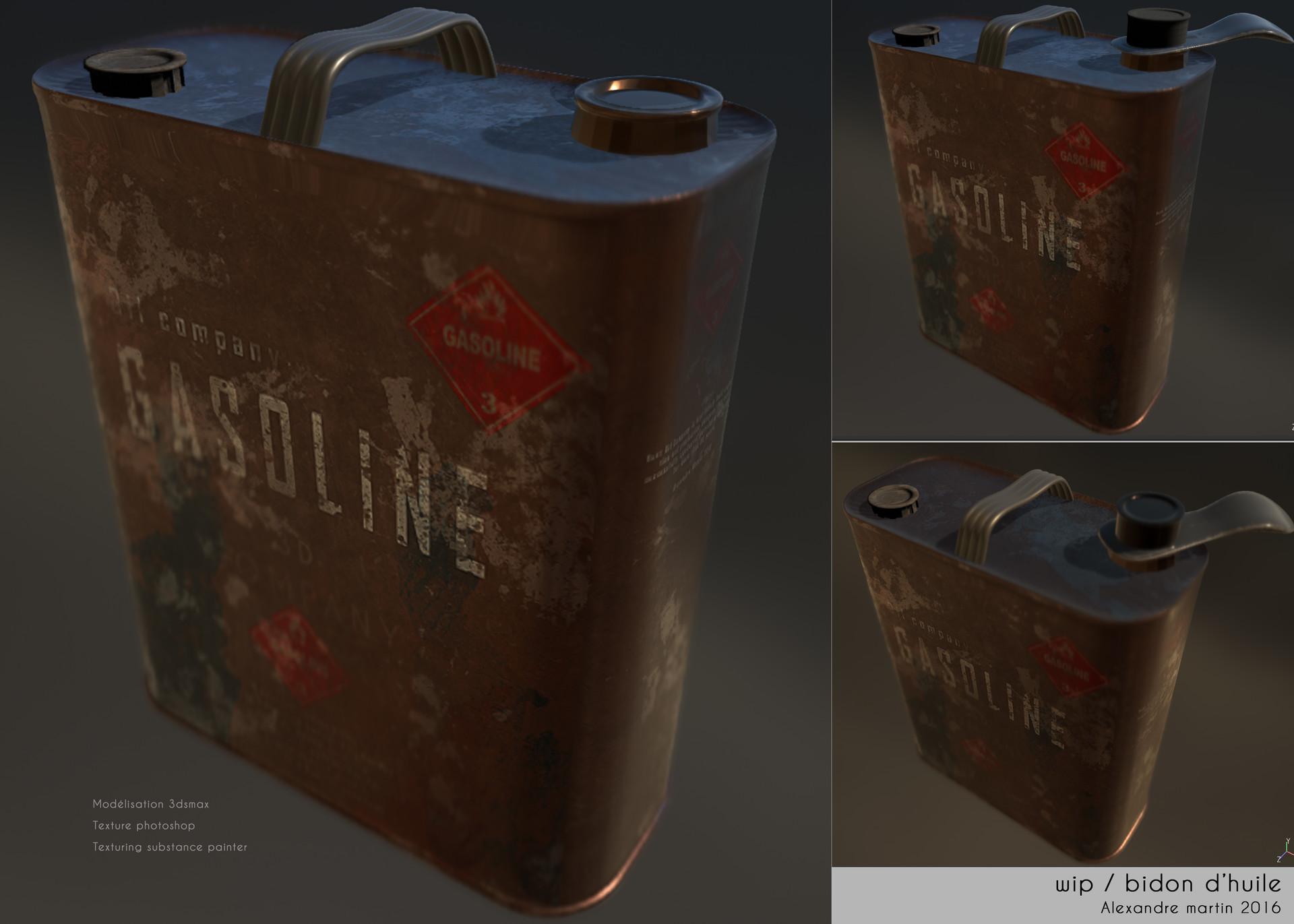 ArtStation - Gasoline 3dsmax, texture photoshop, render substance