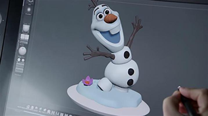 Olaf in Zbrush